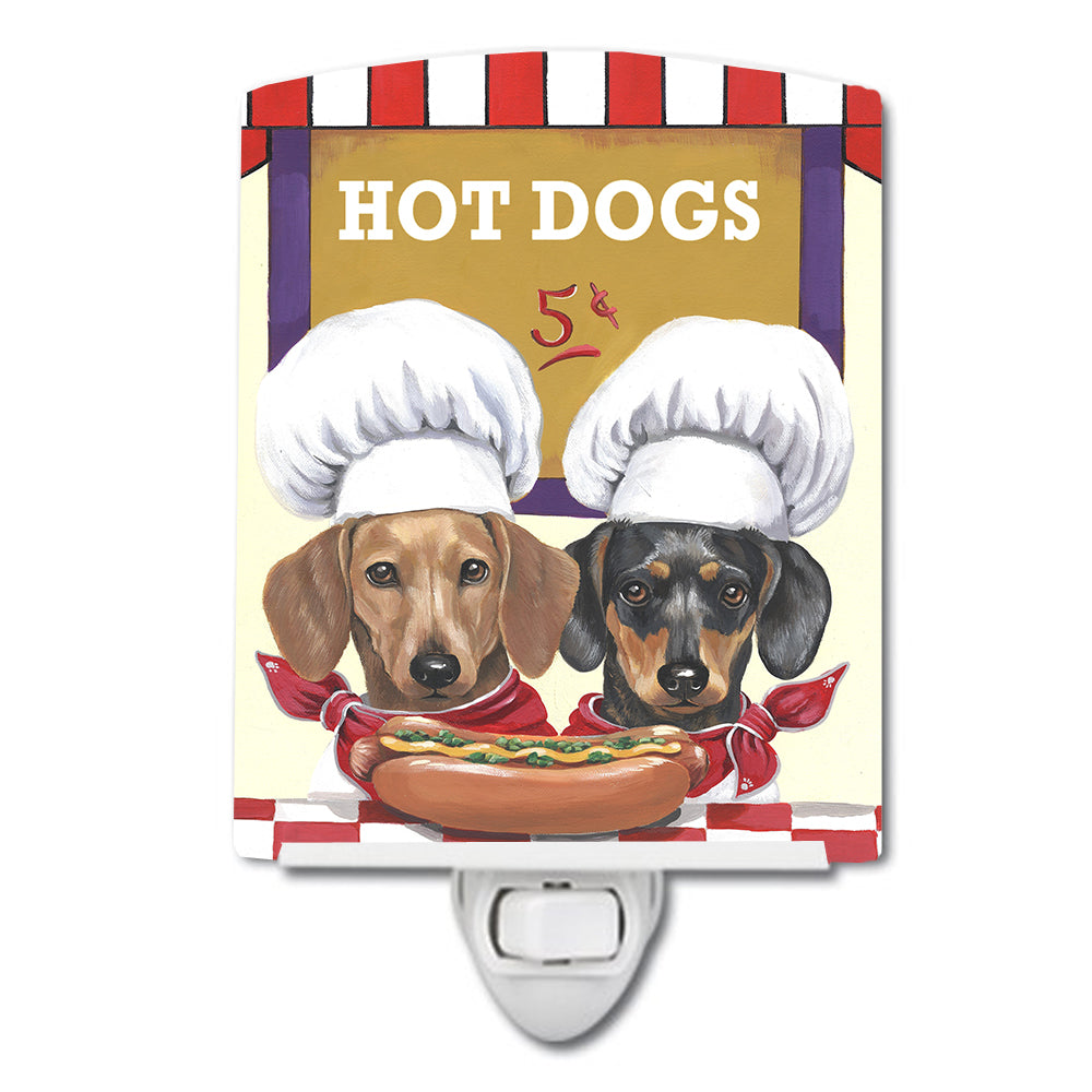 Dachshund Hot Dog Stand Ceramic Night Light PPP3083CNL by Caroline's Treasures