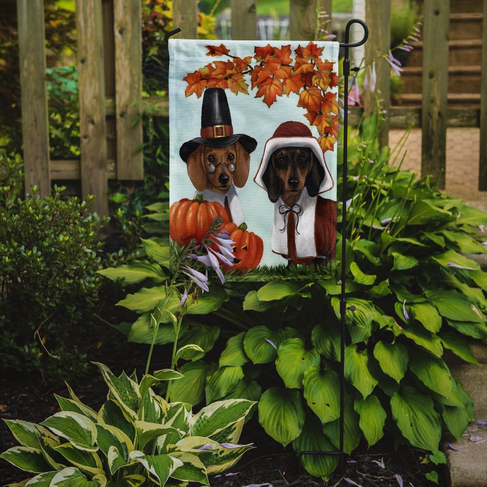 Dachshund Thanksgiving Pilgrims Flag Garden Size PPP3087GF by Caroline's Treasures