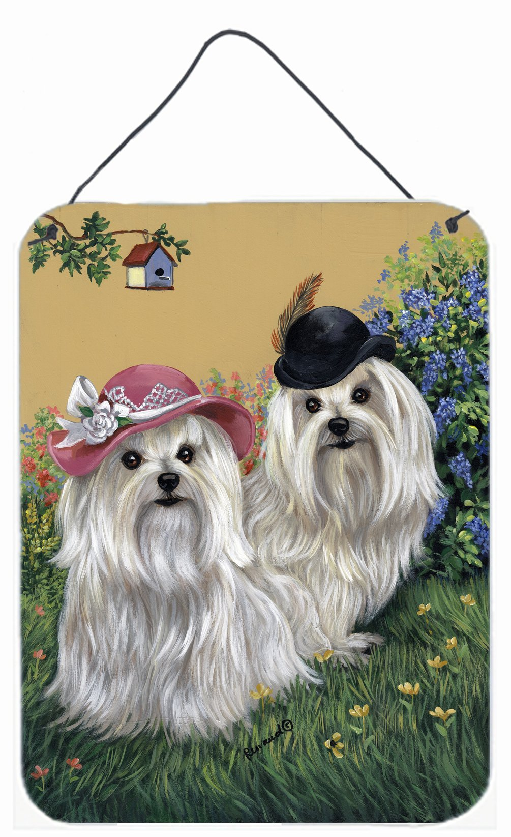 Buy this Maltese Mr & Mrs Wall or Door Hanging Prints PPP3112DS1216