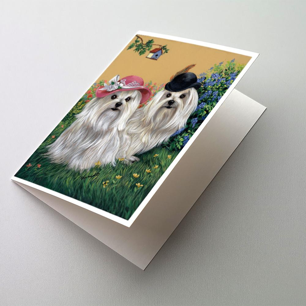 Buy this Maltese Mr & Mrs Greeting Cards and Envelopes Pack of 8