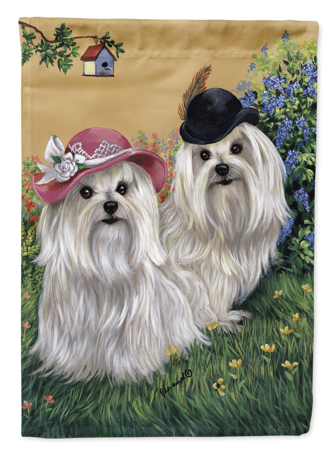 Buy this Maltese Mr & Mrs Flag Garden Size PPP3112GF