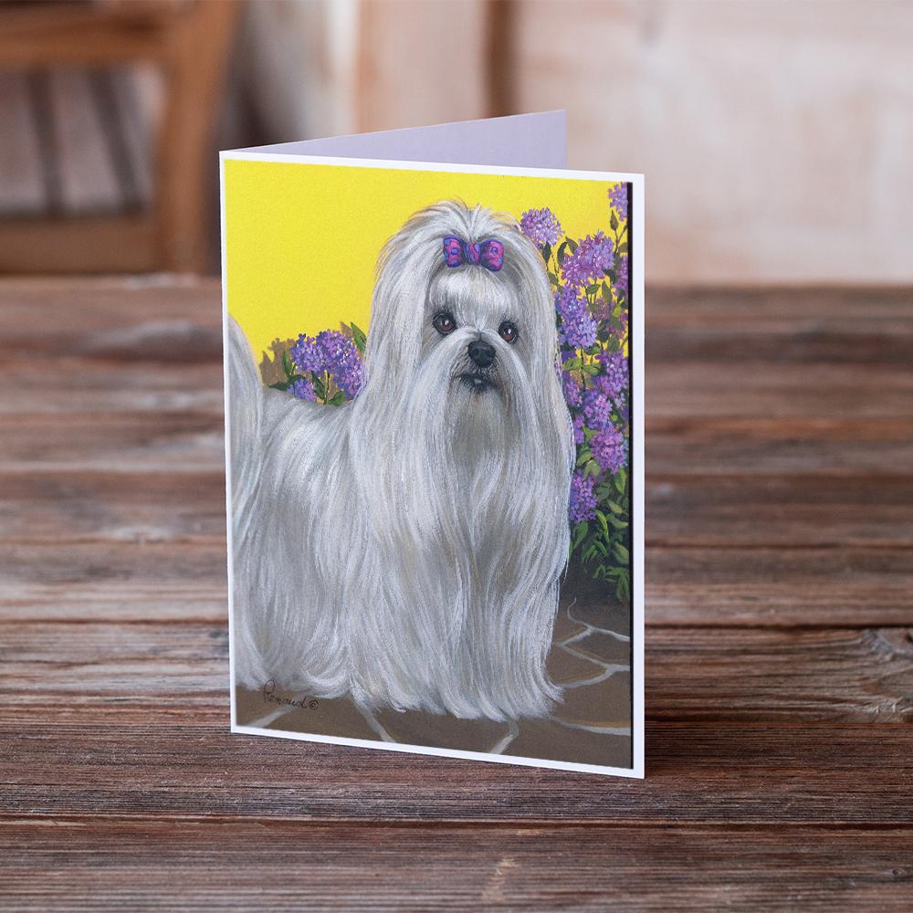 Buy this Maltese Patio Princess Greeting Cards and Envelopes Pack of 8