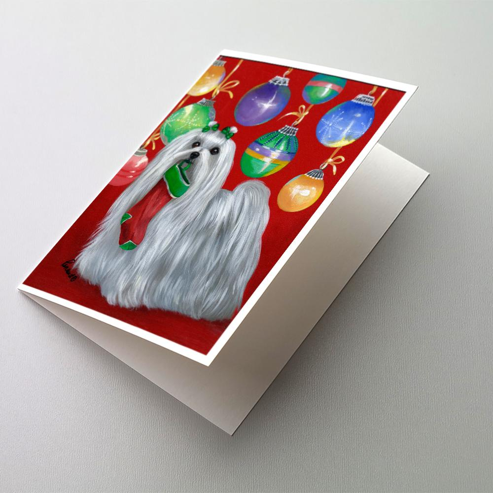 Buy this Maltese Christmas Stocking Stuffer Greeting Cards and Envelopes Pack of 8