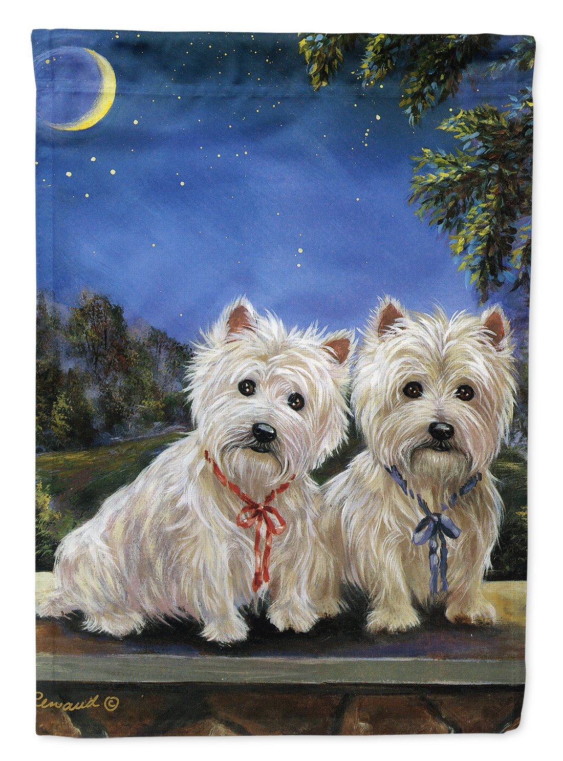 Buy this Westie Moonlight Stroll Flag Garden Size PPP3122GF