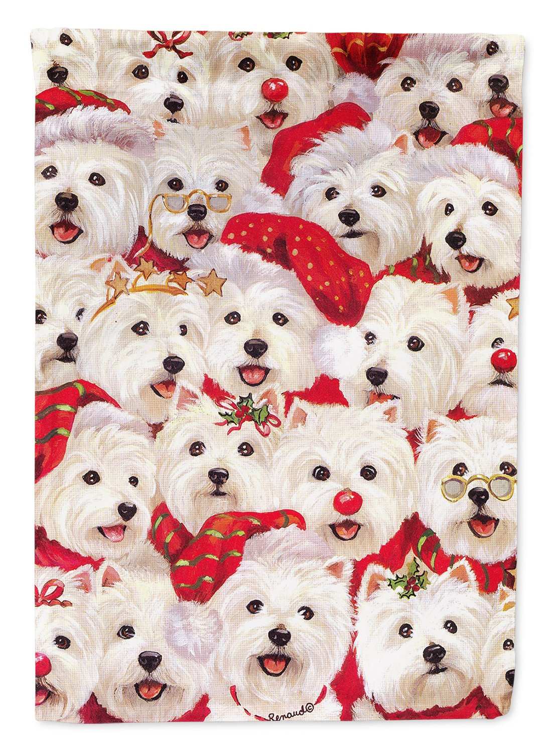Buy this Westie Christmas a Plenty Flag Garden Size PPP3133GF