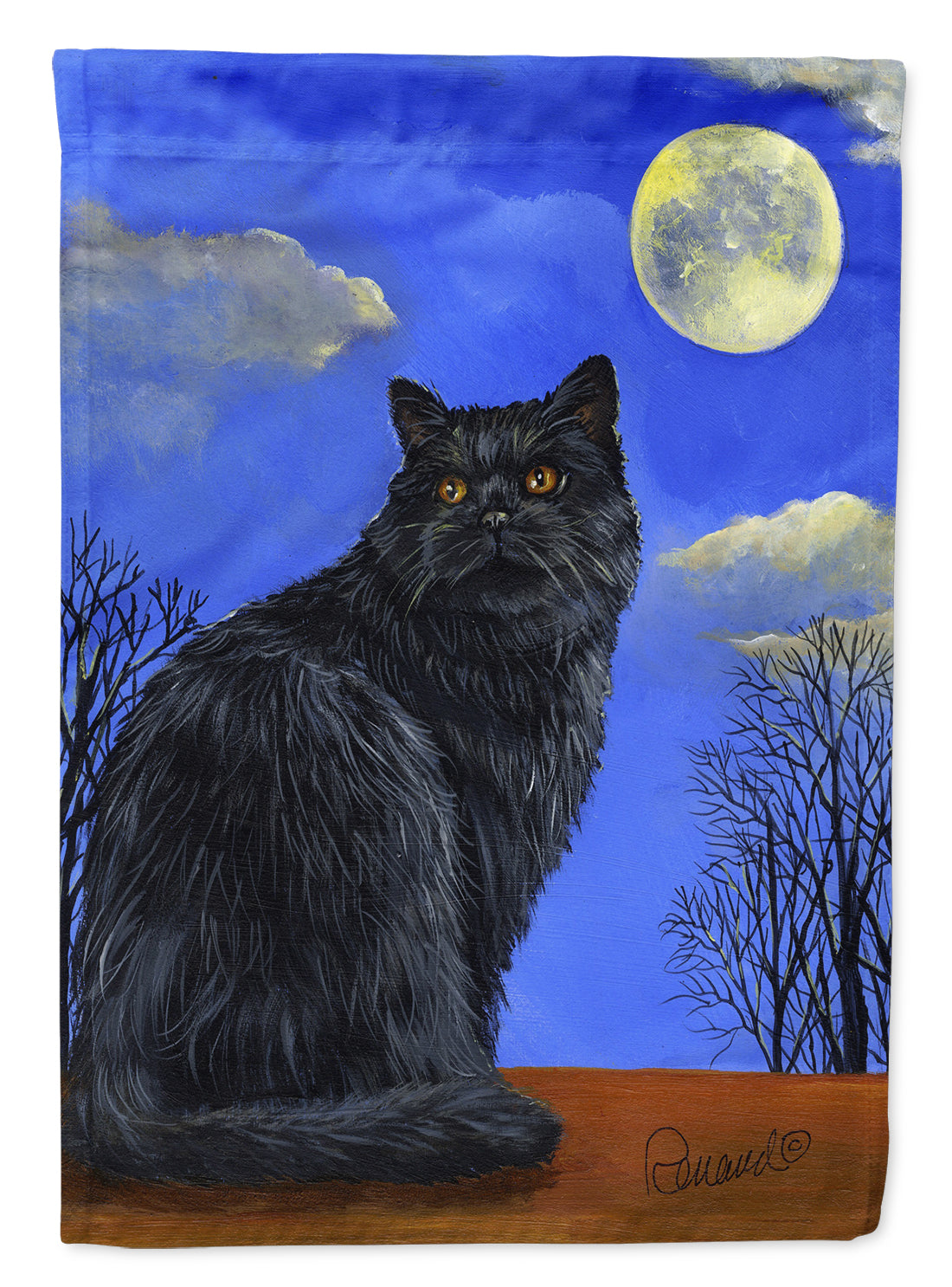Buy this Black Cat Hocus Pocus Halloween Flag Canvas House Size PPP3142CHF