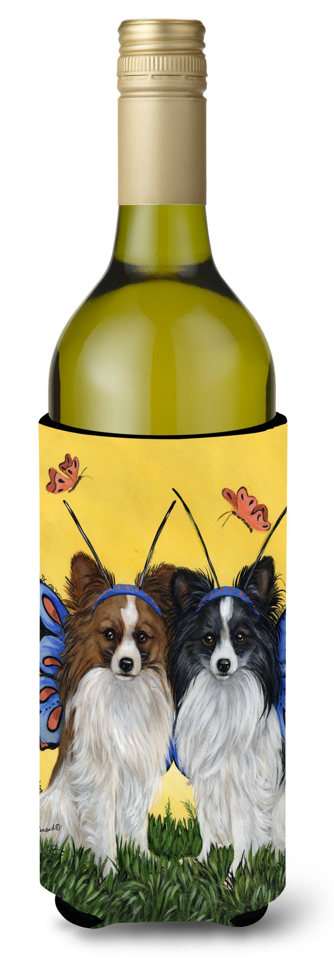 Papillon Butterflies Wine Bottle Hugger PPP3143LITERK by Caroline's Treasures