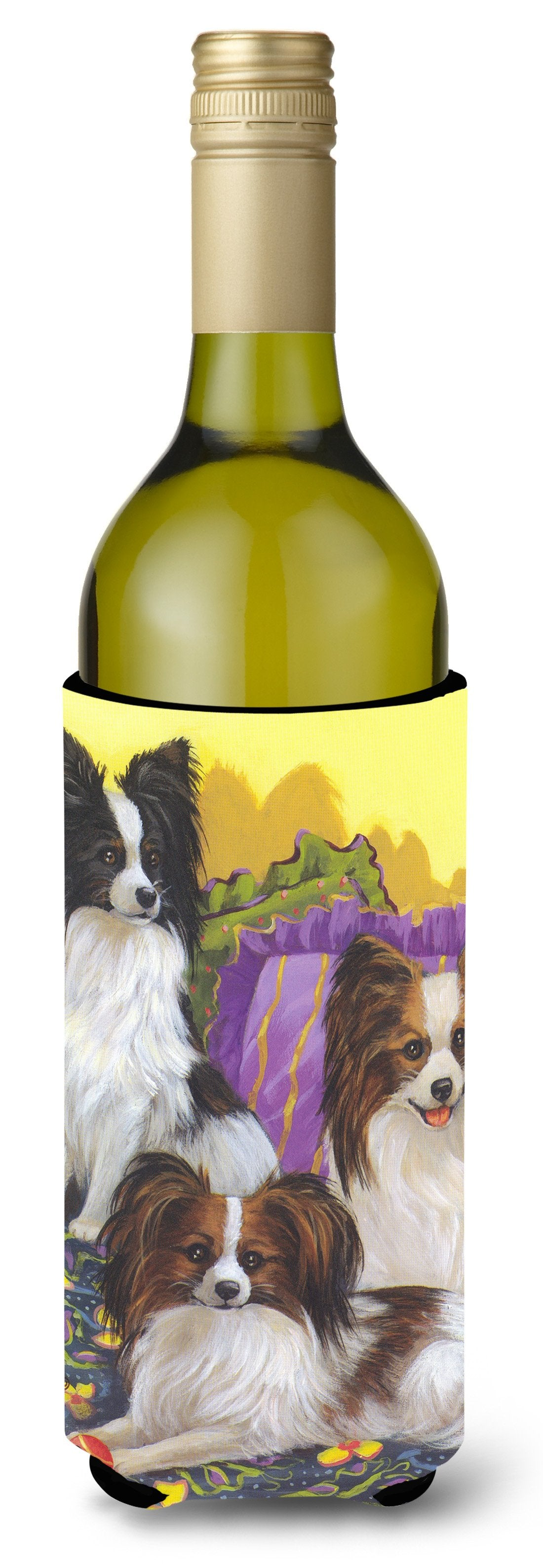 Papillon Party Pals Wine Bottle Hugger PPP3144LITERK by Caroline's Treasures