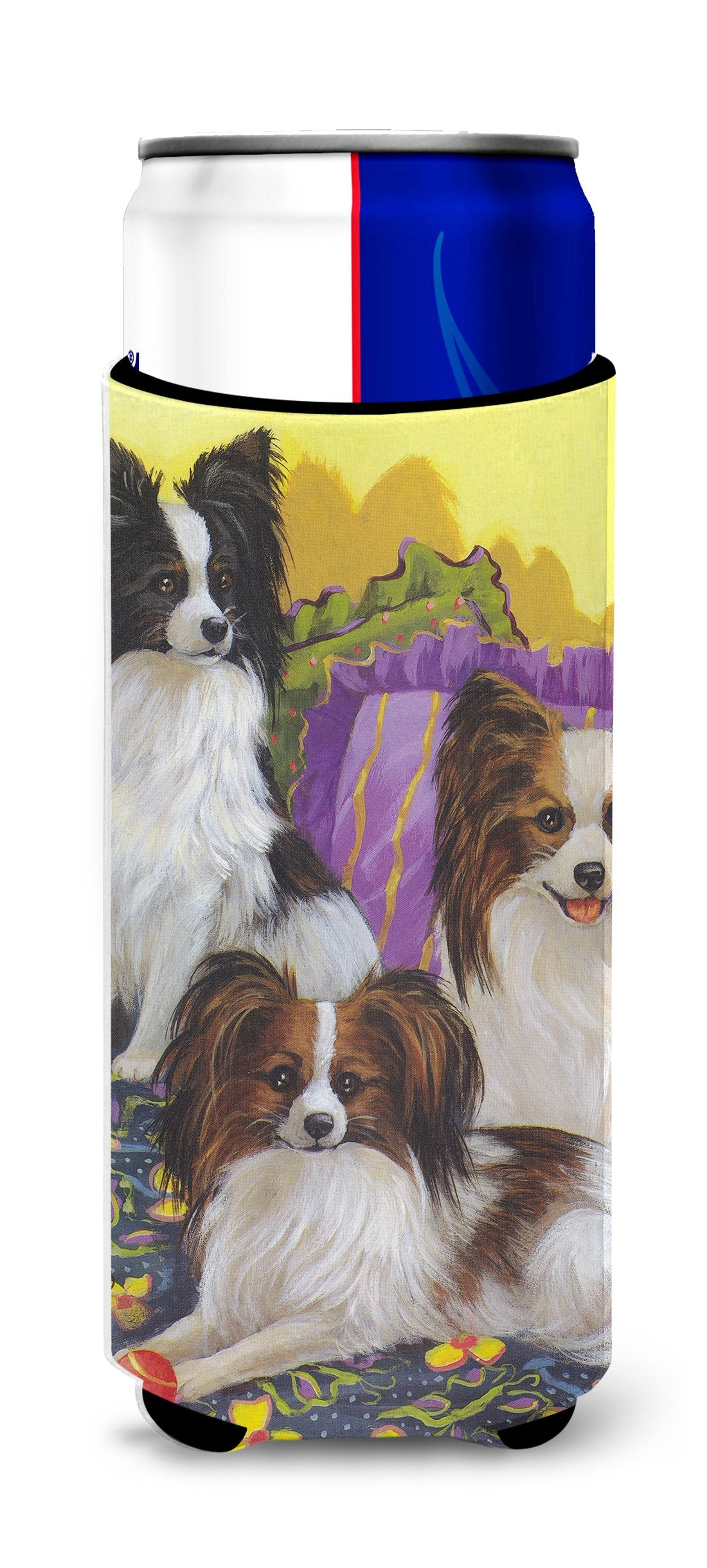 Papillon Party Pals Ultra Hugger for slim cans PPP3144MUK by Caroline's Treasures