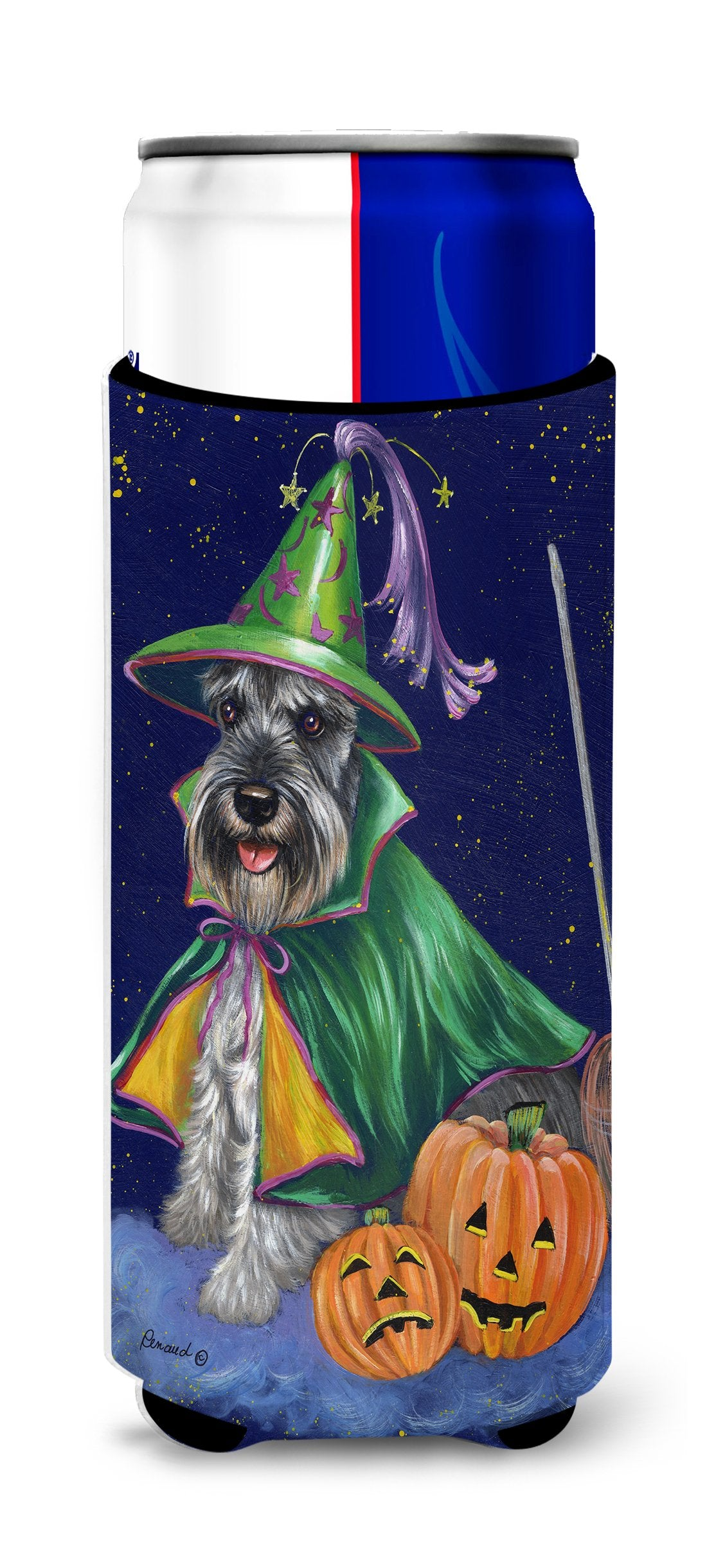 Schnauzer Halloween Good Witch Ultra Hugger for slim cans PPP3159MUK by Caroline's Treasures