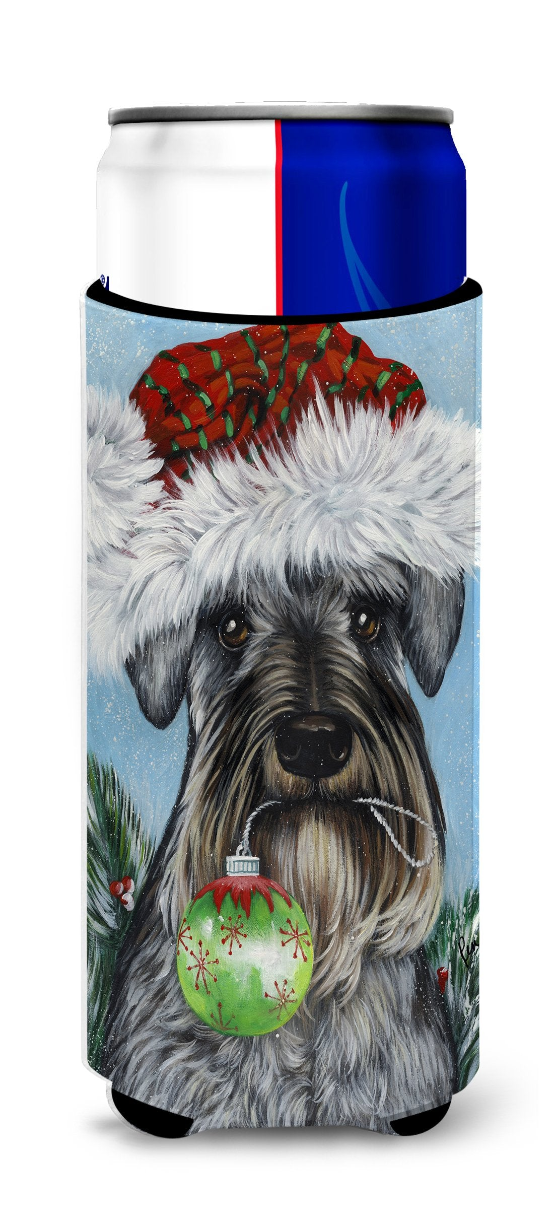 Schnauzer Christmas Pure at Heart Ultra Hugger for slim cans PPP3163MUK by Caroline's Treasures