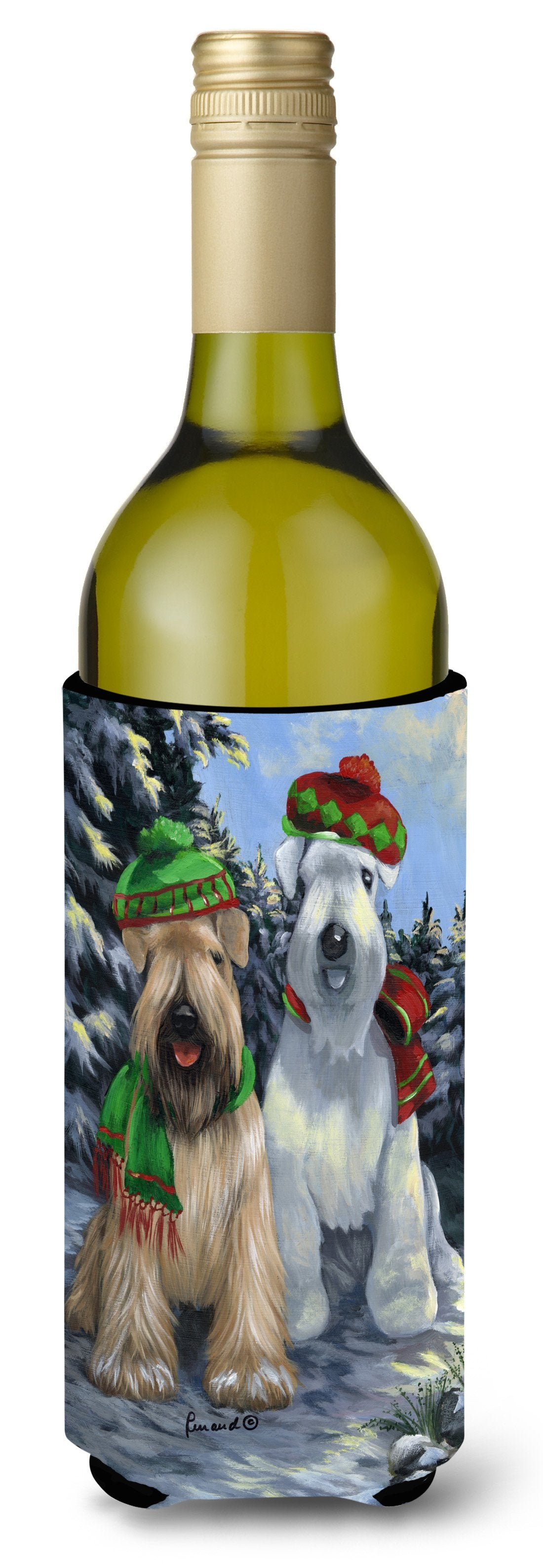 Wheaten Terrier Christmas Snowdog Wine Bottle Hugger PPP3194LITERK by Caroline's Treasures