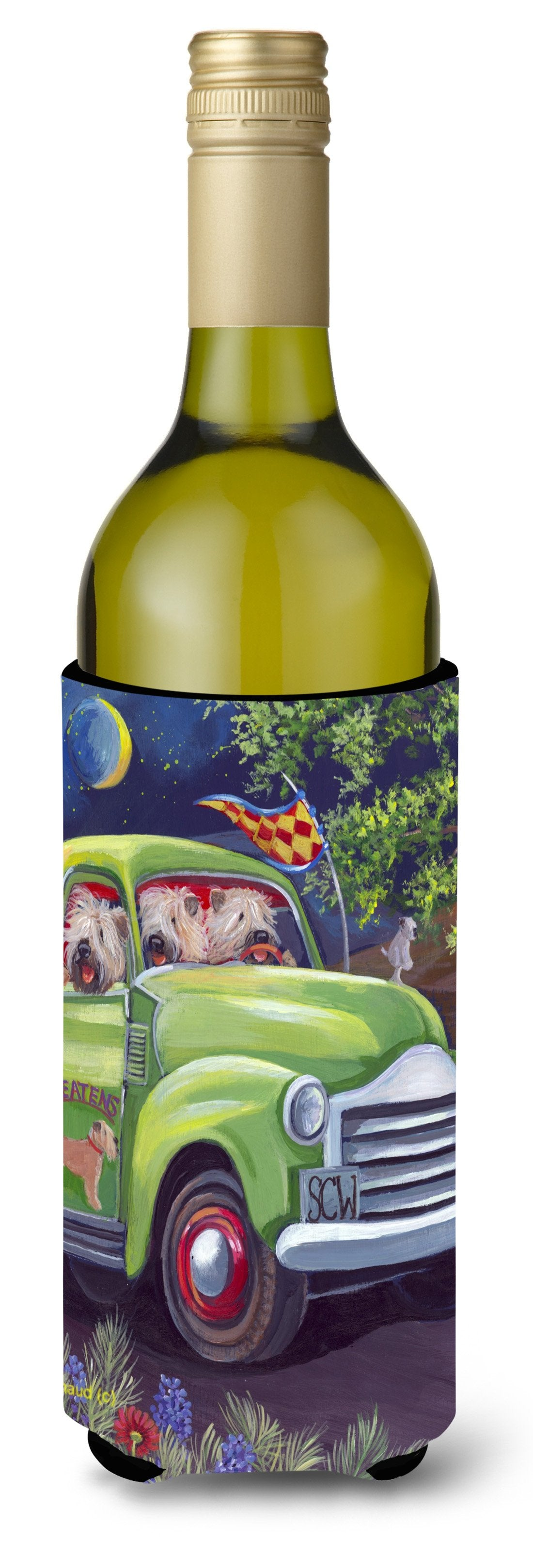 Wheaten Terrier Zoom Wine Bottle Hugger PPP3195LITERK by Caroline's Treasures