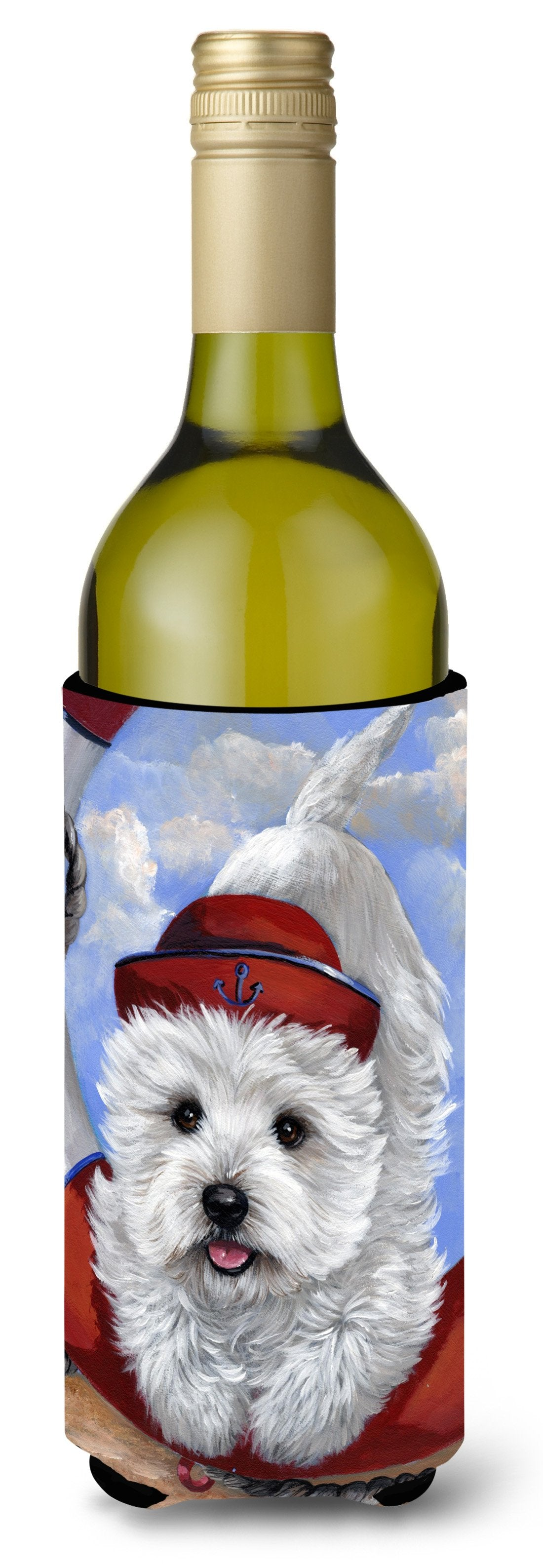 Westie Ahoy Sailor Wine Bottle Hugger PPP3197LITERK by Caroline's Treasures