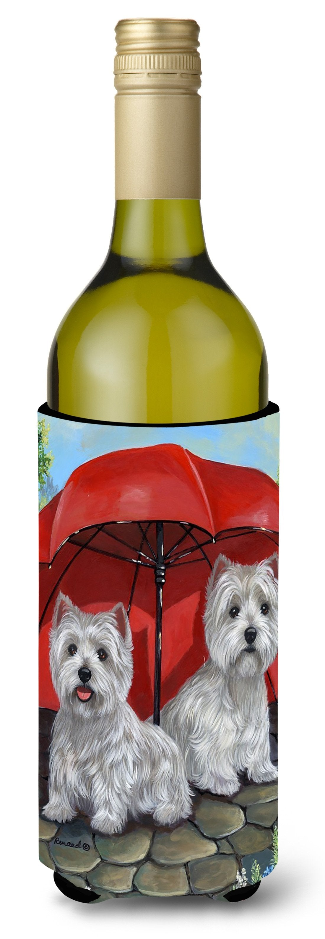 Westie April Showers Wine Bottle Hugger PPP3198LITERK by Caroline's Treasures