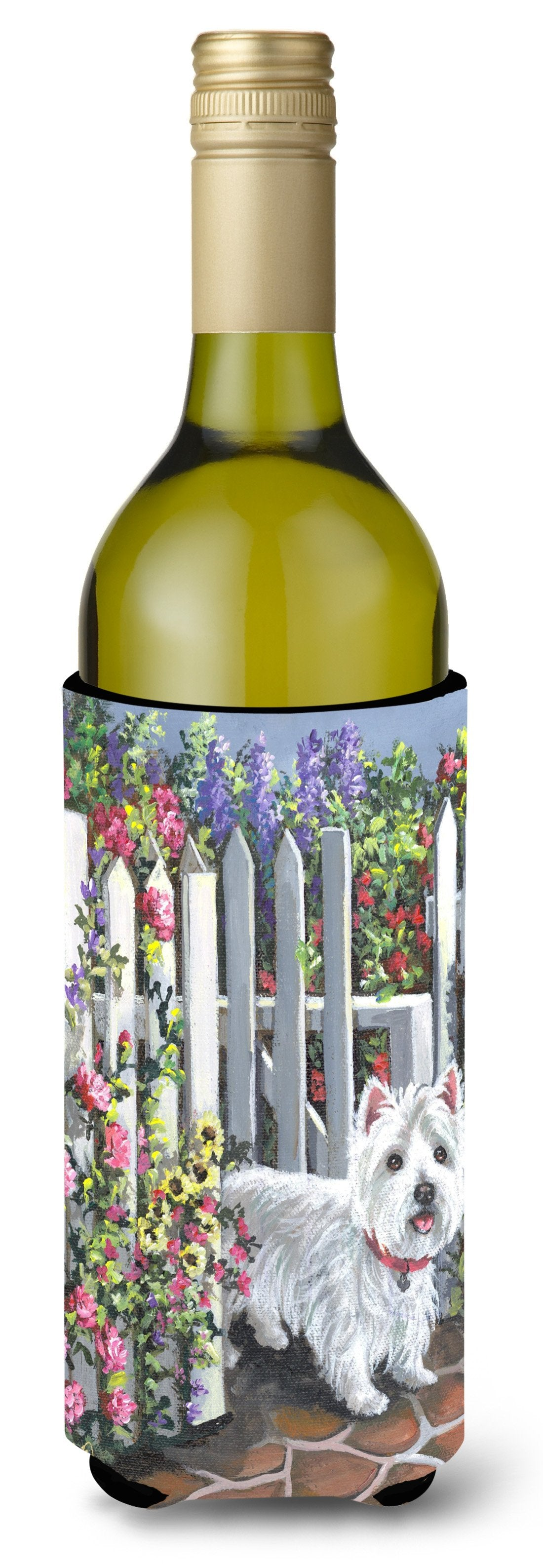 Westie At the Gate Wine Bottle Hugger PPP3199LITERK by Caroline's Treasures