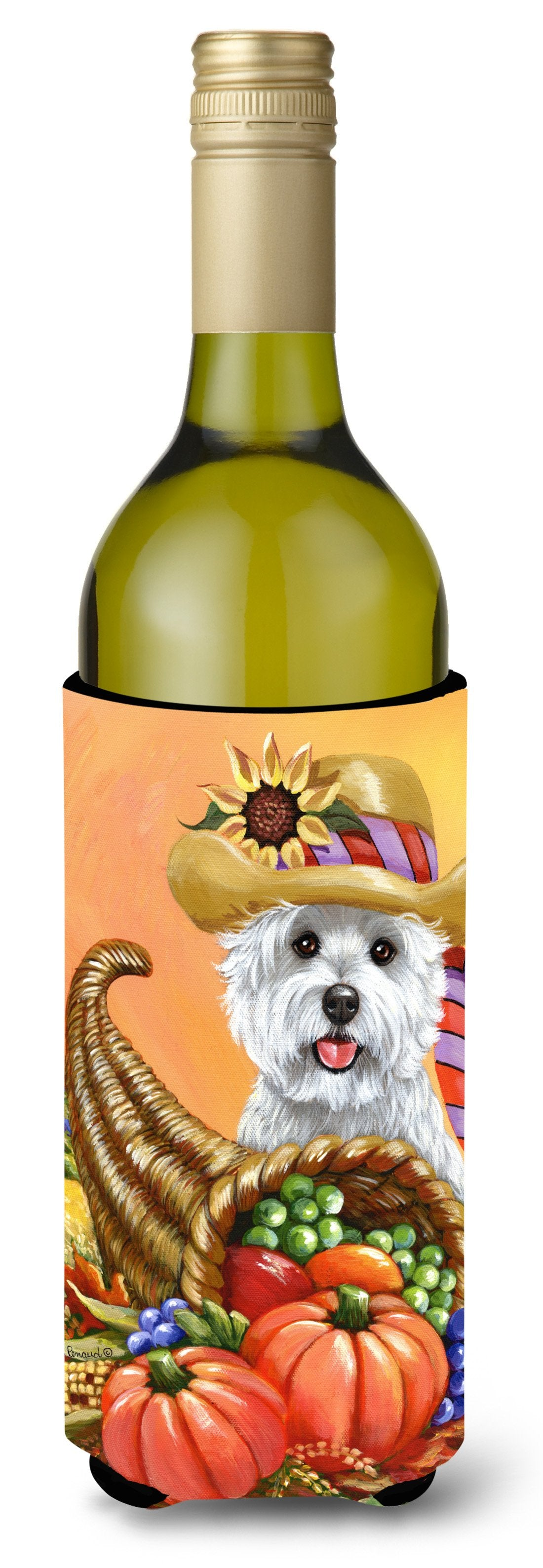 Westie Autumn Wine Bottle Hugger PPP3200LITERK by Caroline's Treasures