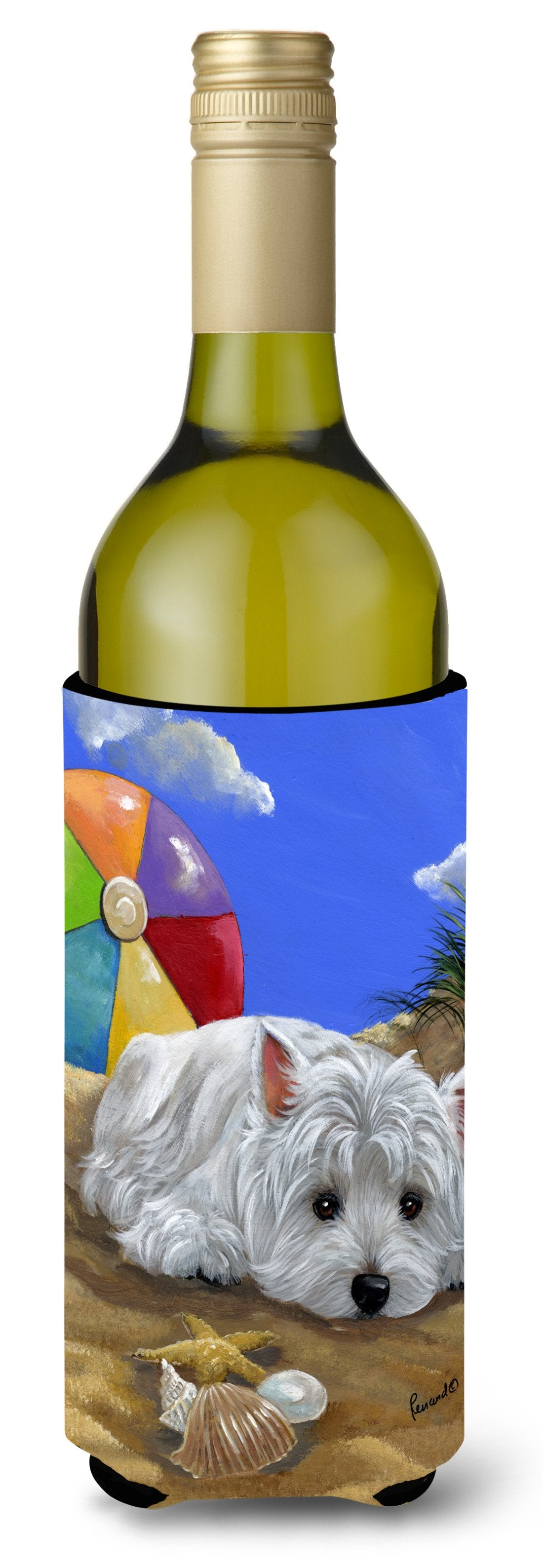 Westie Beach Baby Wine Bottle Hugger PPP3202LITERK by Caroline's Treasures