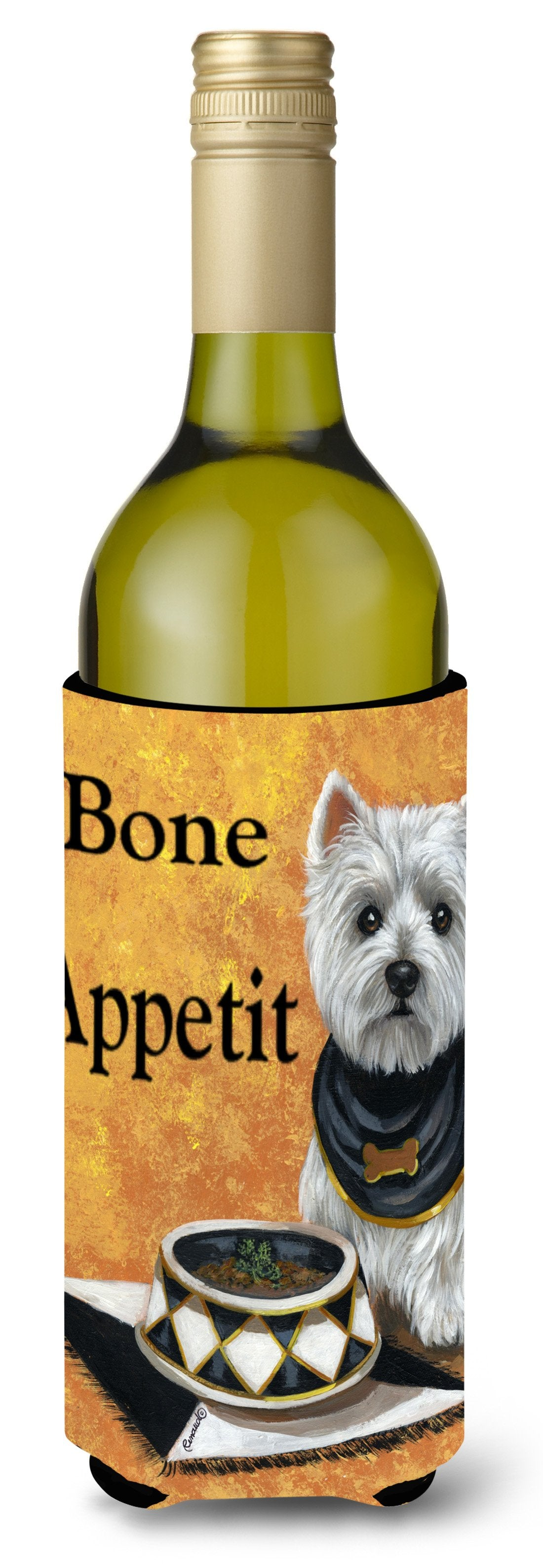 Westie Bone Appetit Wine Bottle Hugger PPP3203LITERK by Caroline's Treasures