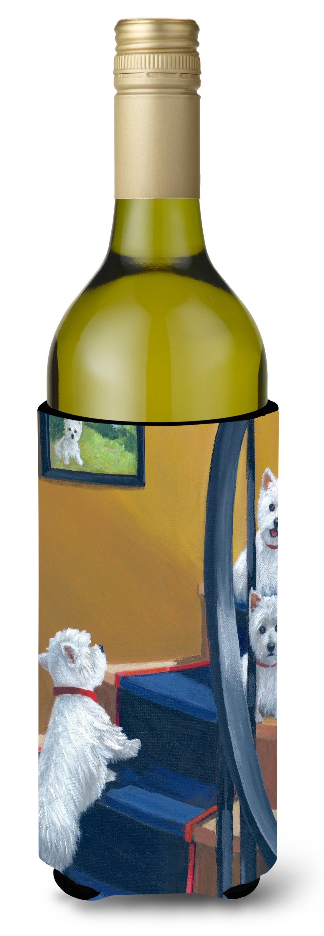 Westie Going Up Wine Bottle Hugger PPP3204LITERK by Caroline's Treasures