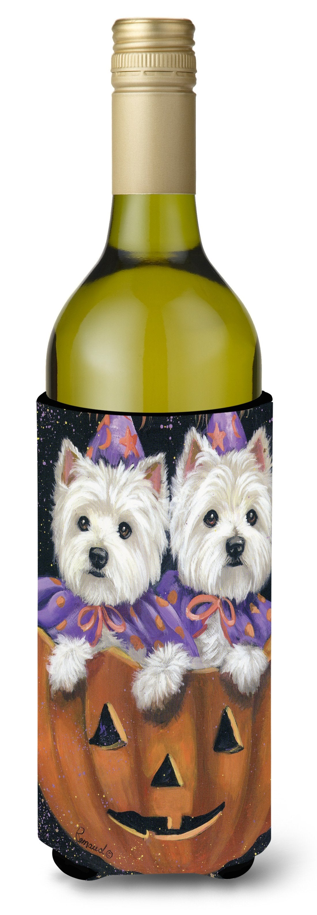 Westie Halloween Pumpkin Ride Wine Bottle Hugger PPP3205LITERK by Caroline's Treasures