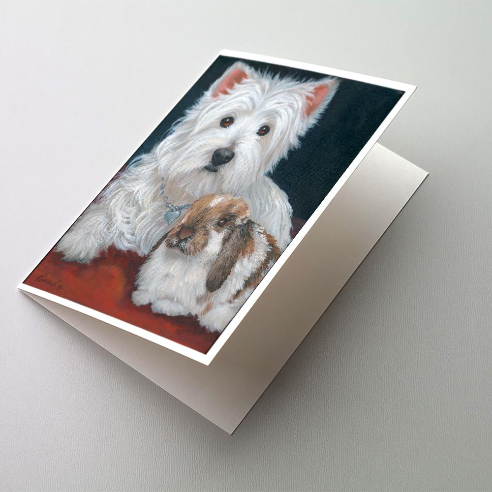 Buy this Westie Rabbit Harmony Greeting Cards and Envelopes Pack of 8