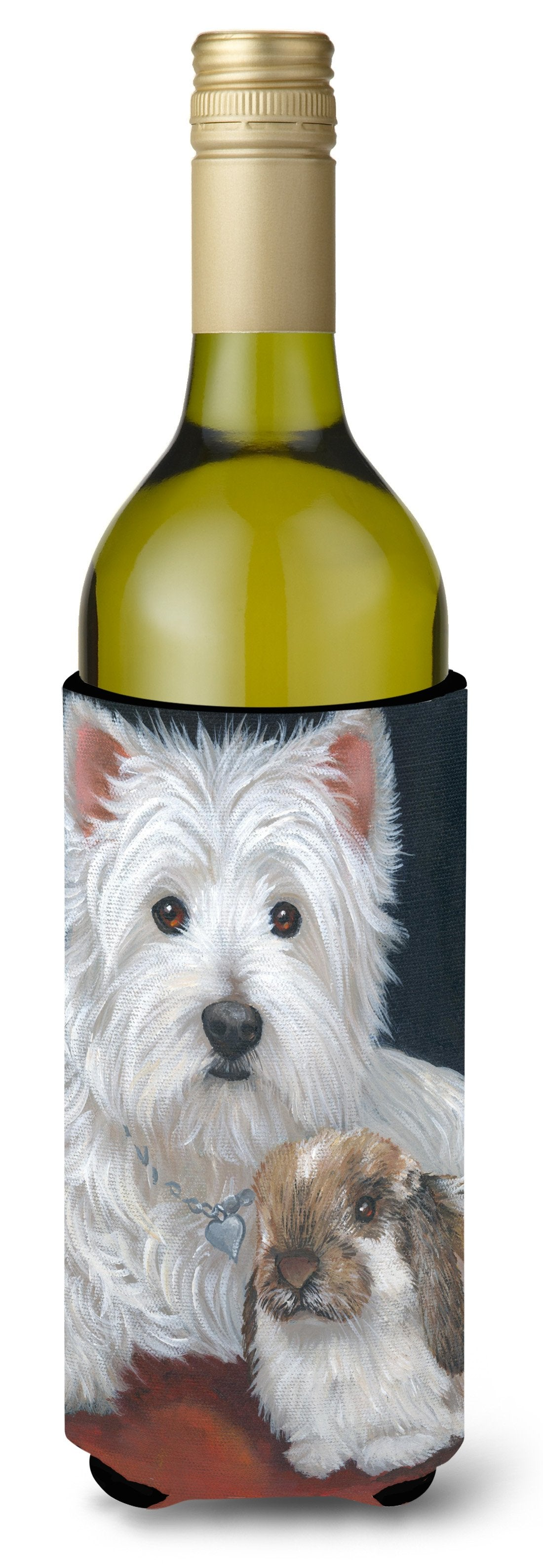 Westie Rabbit Harmony Wine Bottle Hugger PPP3207LITERK by Caroline's Treasures
