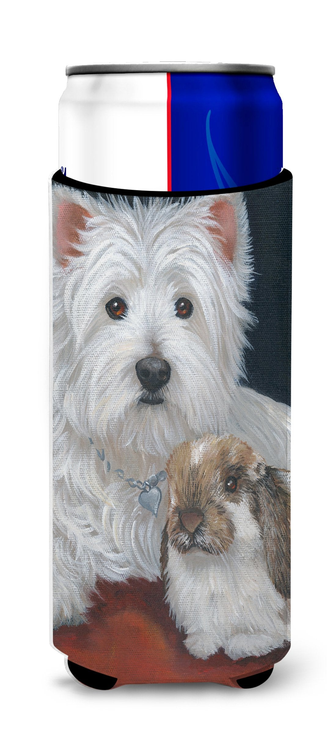 Westie Rabbit Harmony Ultra Hugger for slim cans PPP3207MUK by Caroline's Treasures