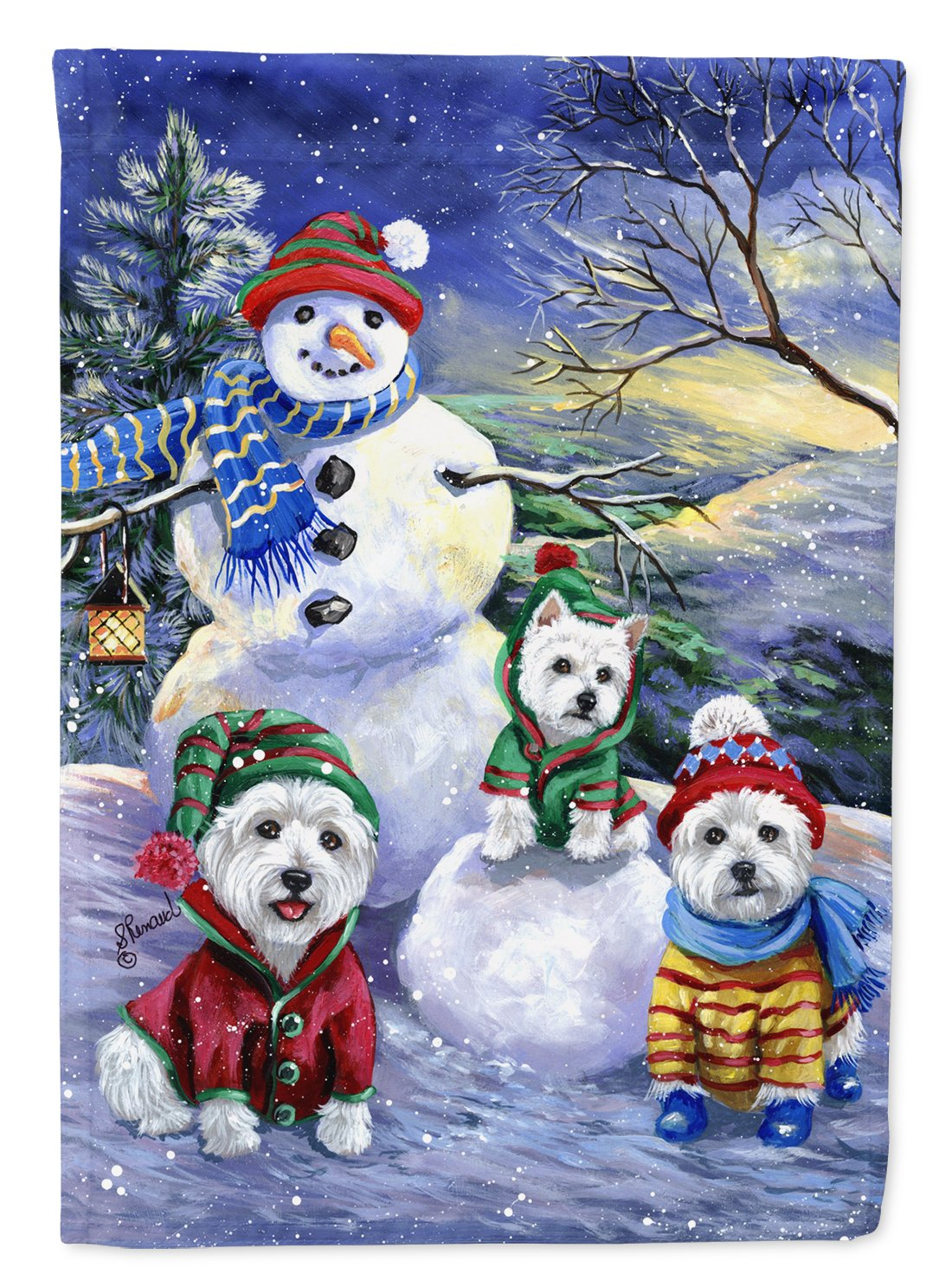 Buy this Westie Holiay Snowballs Flag Garden Size PPP3208GF