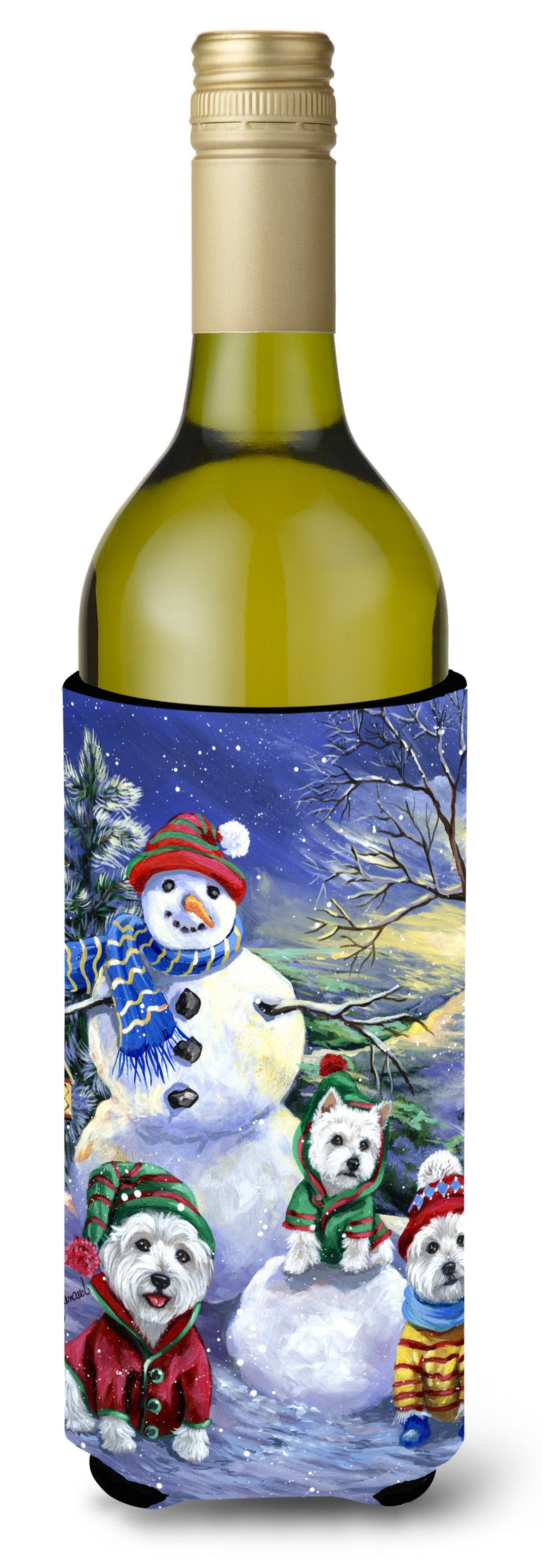 Westie Holiay Snowballs Wine Bottle Hugger PPP3208LITERK by Caroline's Treasures