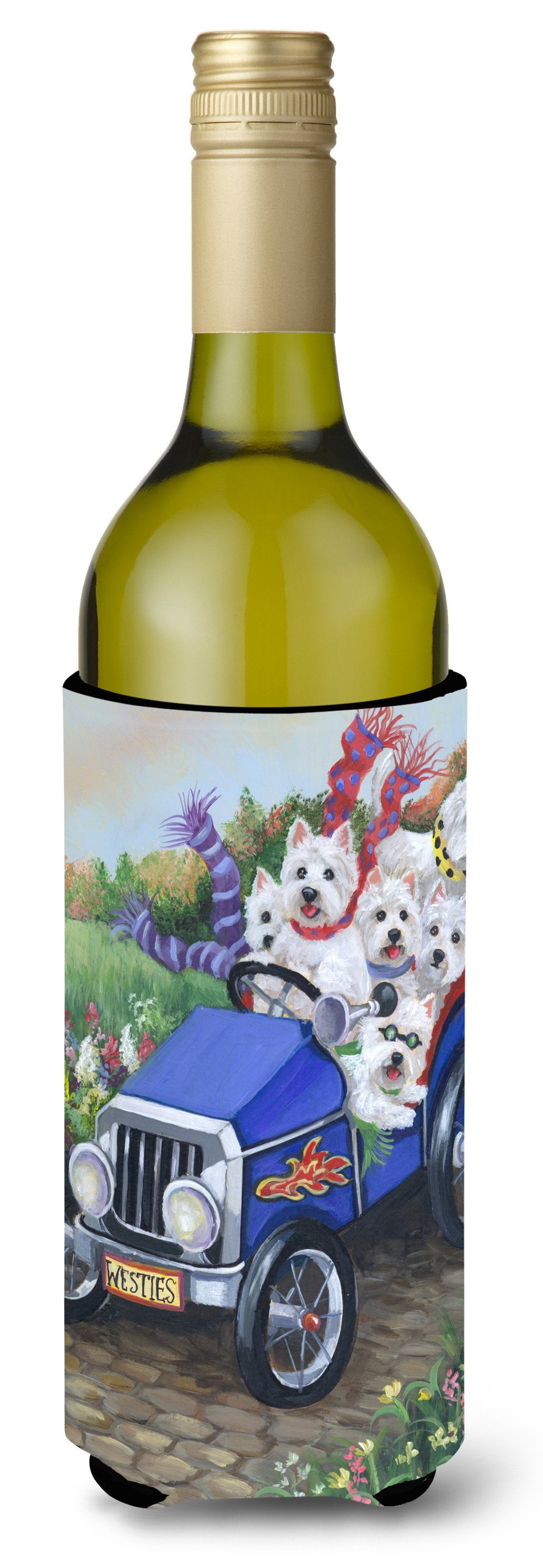 Westie Hot Rod Wine Bottle Hugger PPP3209LITERK by Caroline's Treasures