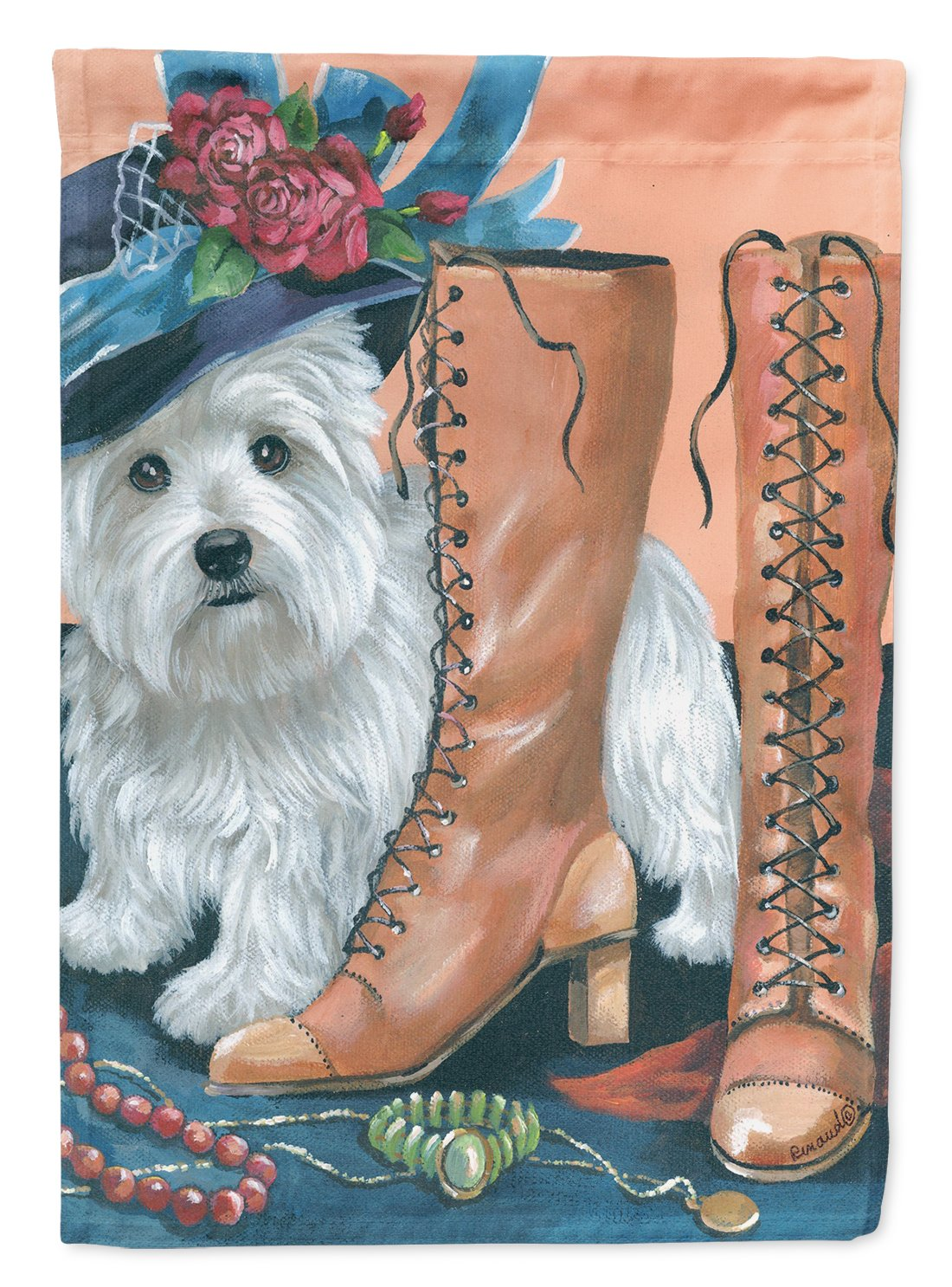 Buy this Westie in Mom's Closet Flag Garden Size PPP3211GF
