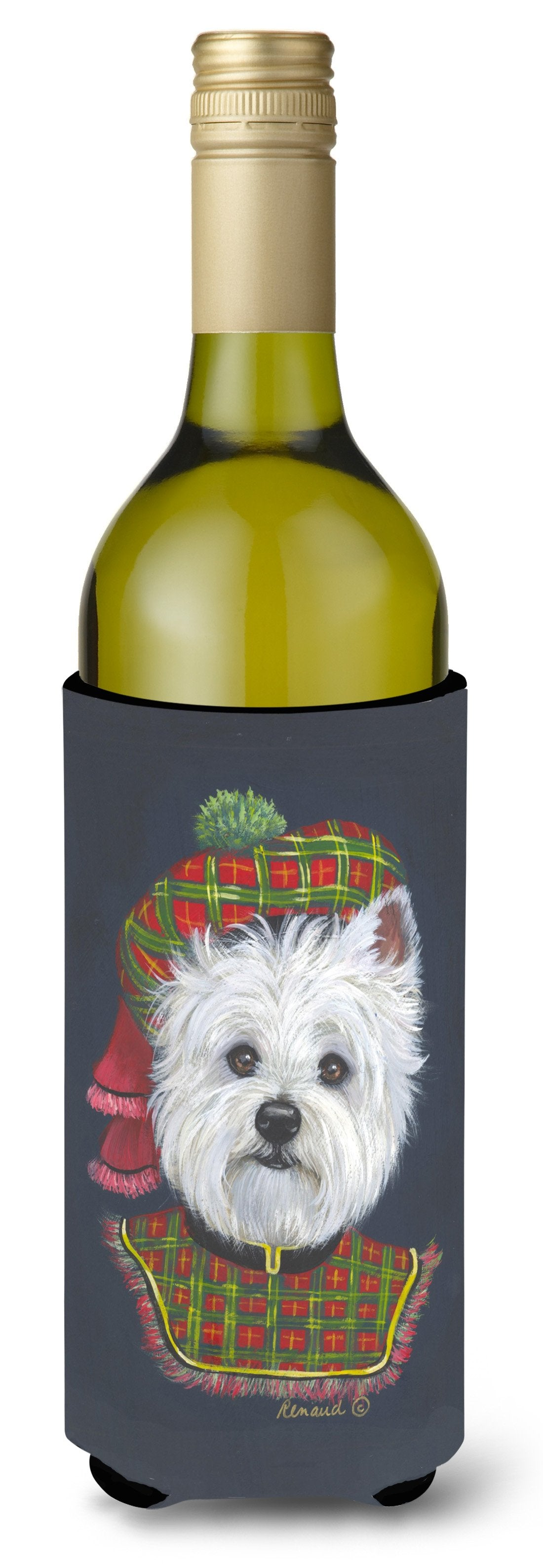 Westie Lad Plaid Wine Bottle Hugger PPP3213LITERK by Caroline's Treasures