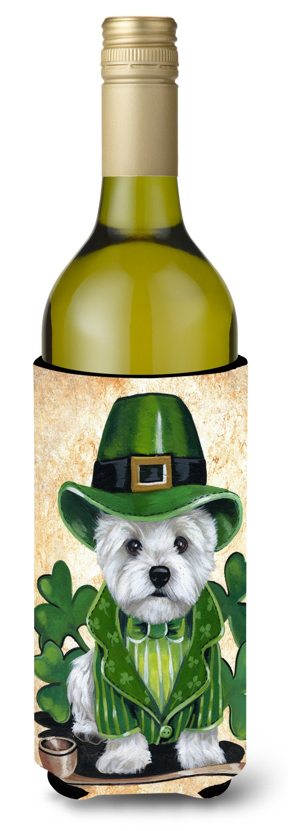 Westie St Patrick's Day Leprechaun Wine Bottle Hugger PPP3214LITERK by Caroline's Treasures