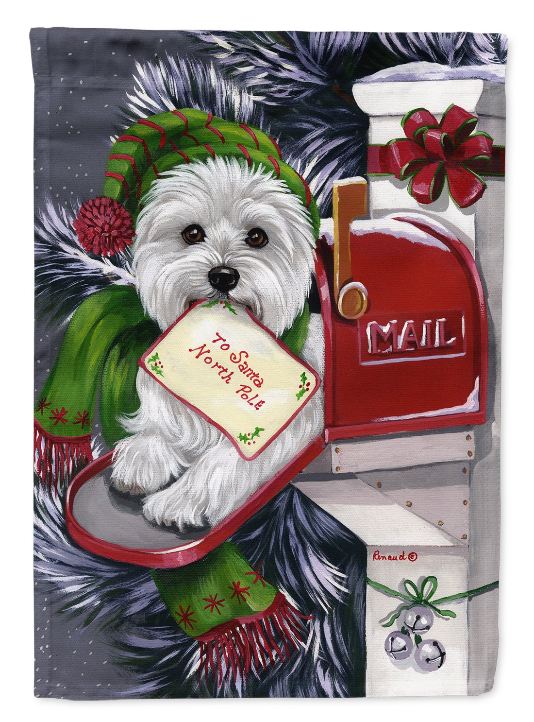 Buy this Westie Christmas Letter to Santa Flag Garden Size PPP3215GF