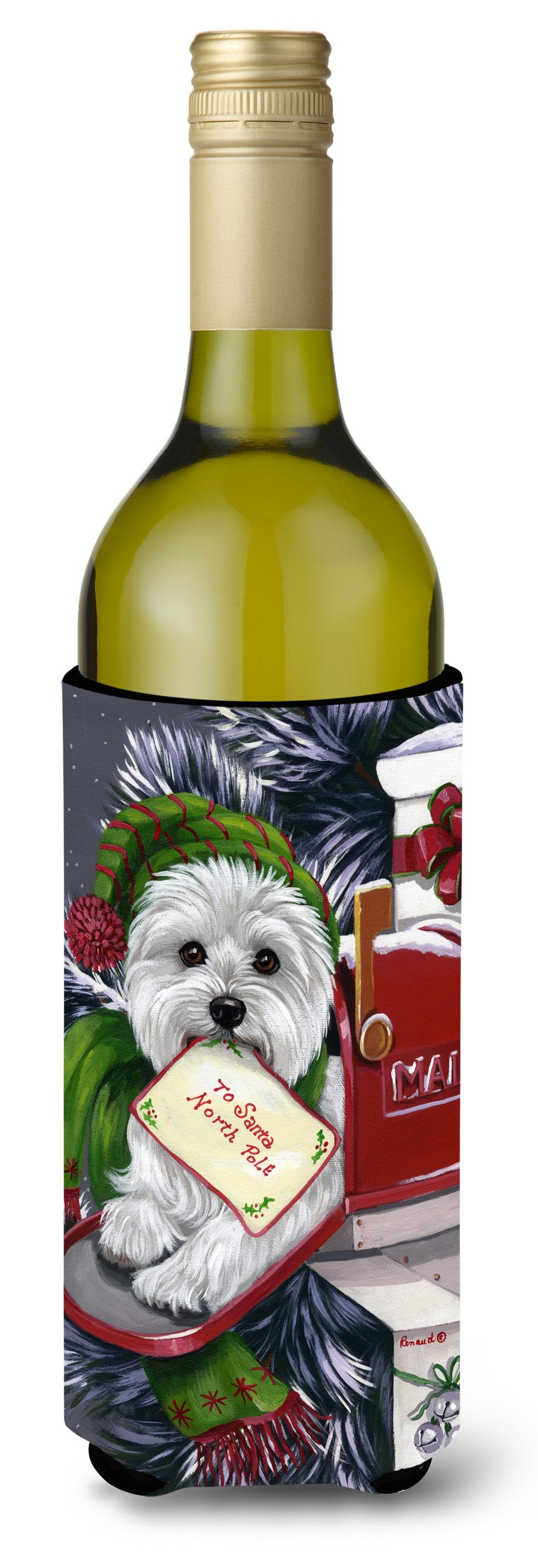Westie Christmas Letter to Santa Wine Bottle Hugger PPP3215LITERK by Caroline's Treasures