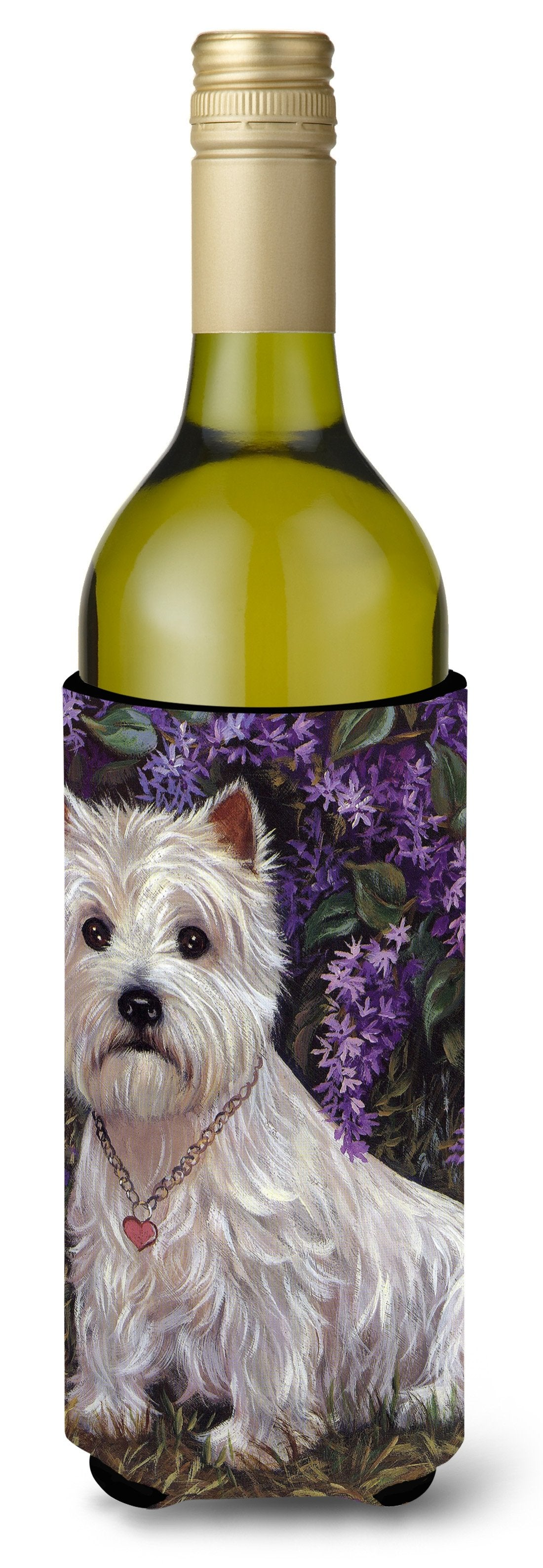 Westie Lily & Lilacs Wine Bottle Hugger PPP3216LITERK by Caroline's Treasures