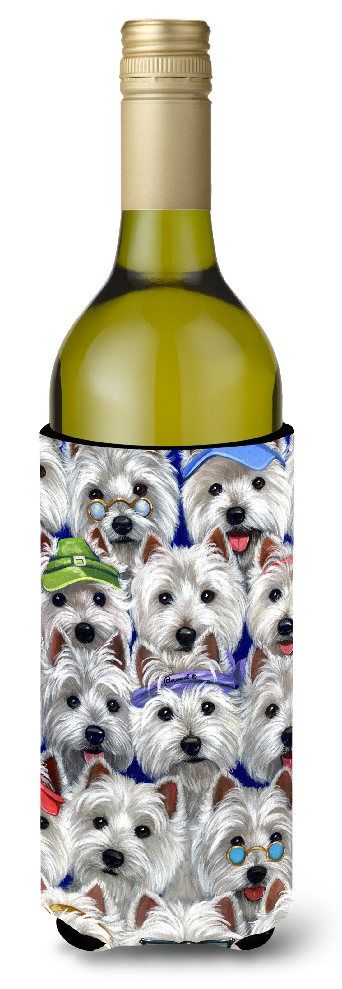 Westie Many Faces Wine Bottle Hugger PPP3217LITERK by Caroline's Treasures
