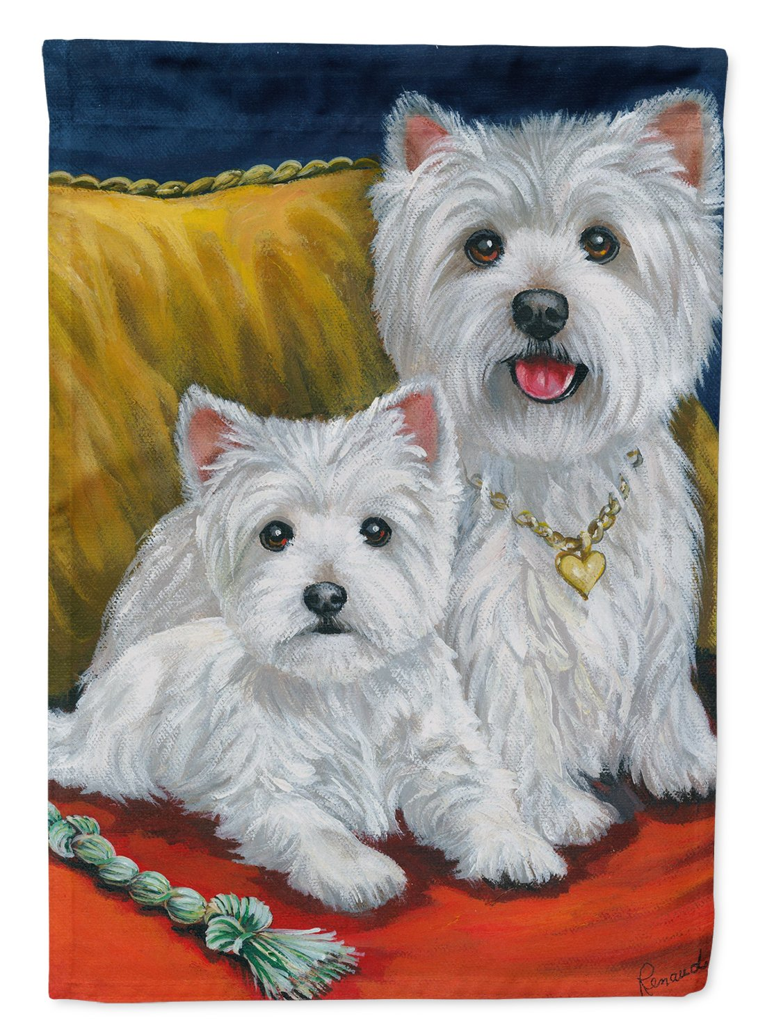 Buy this Westie Mom and Pup Flag Garden Size PPP3218GF