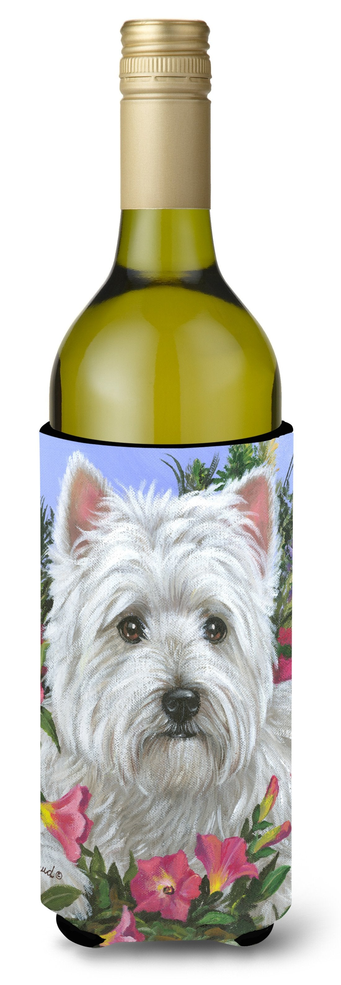 Westie Petunia Wine Bottle Hugger PPP3221LITERK by Caroline's Treasures