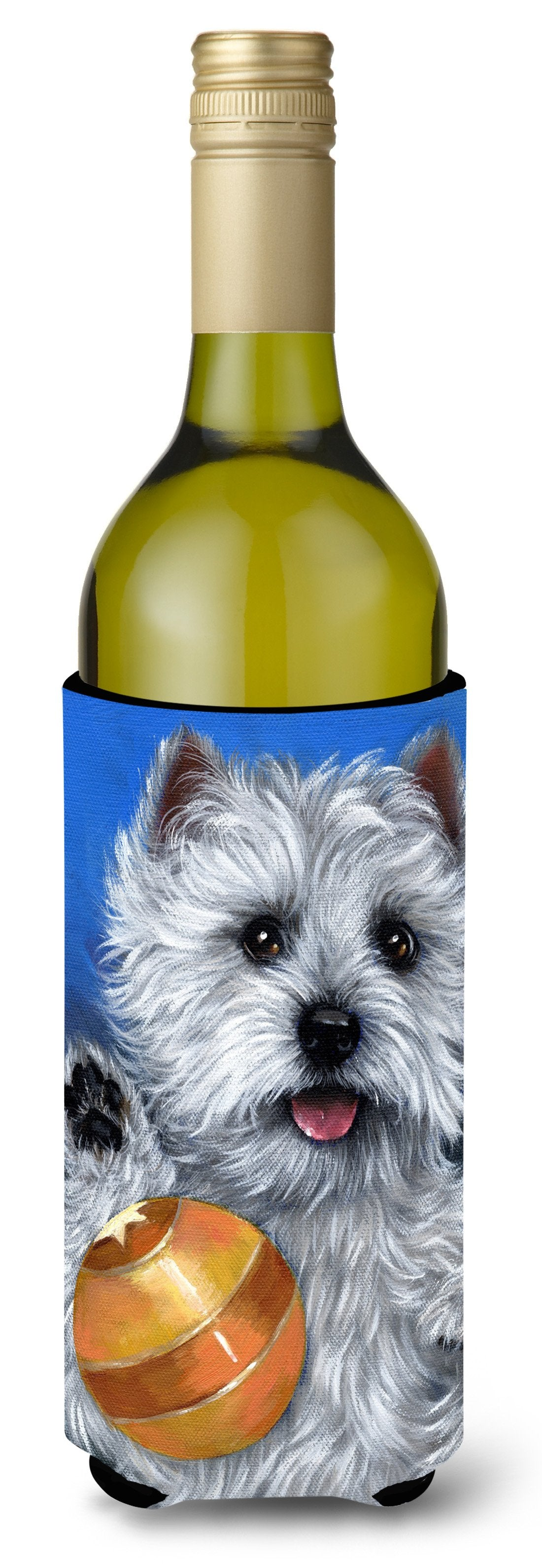 Westie Play Ball Wine Bottle Hugger PPP3223LITERK by Caroline's Treasures