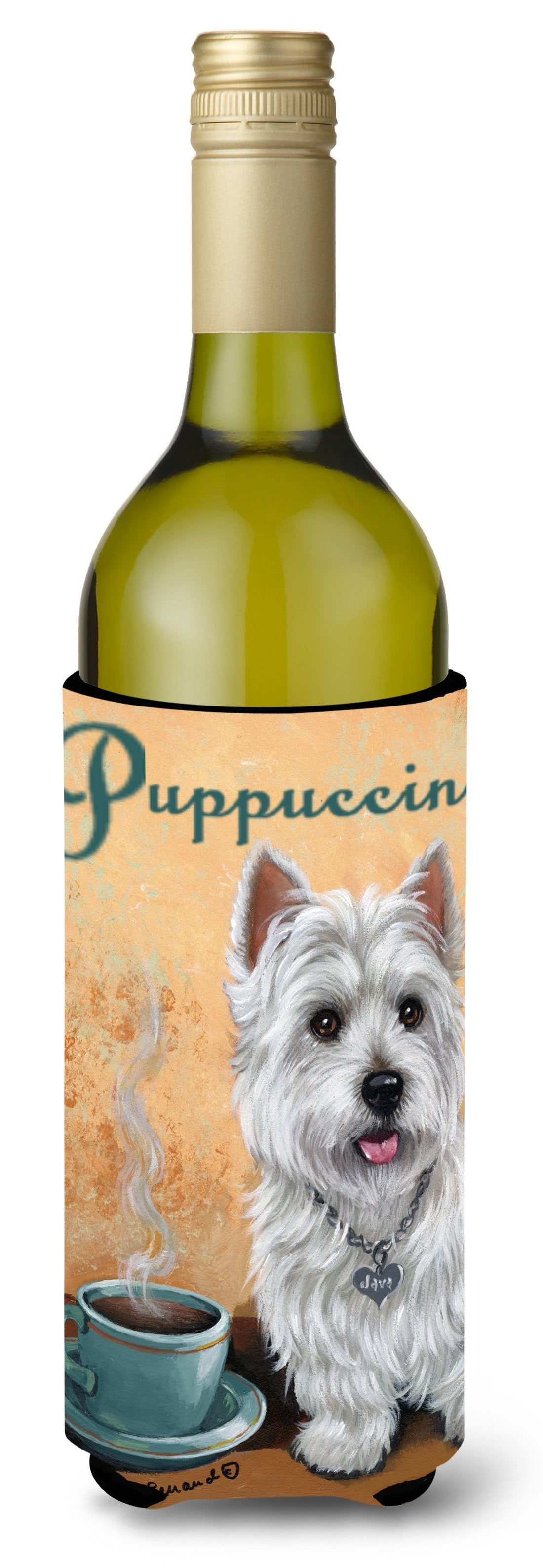 Westie Puppuccino Wine Bottle Hugger PPP3225LITERK by Caroline's Treasures