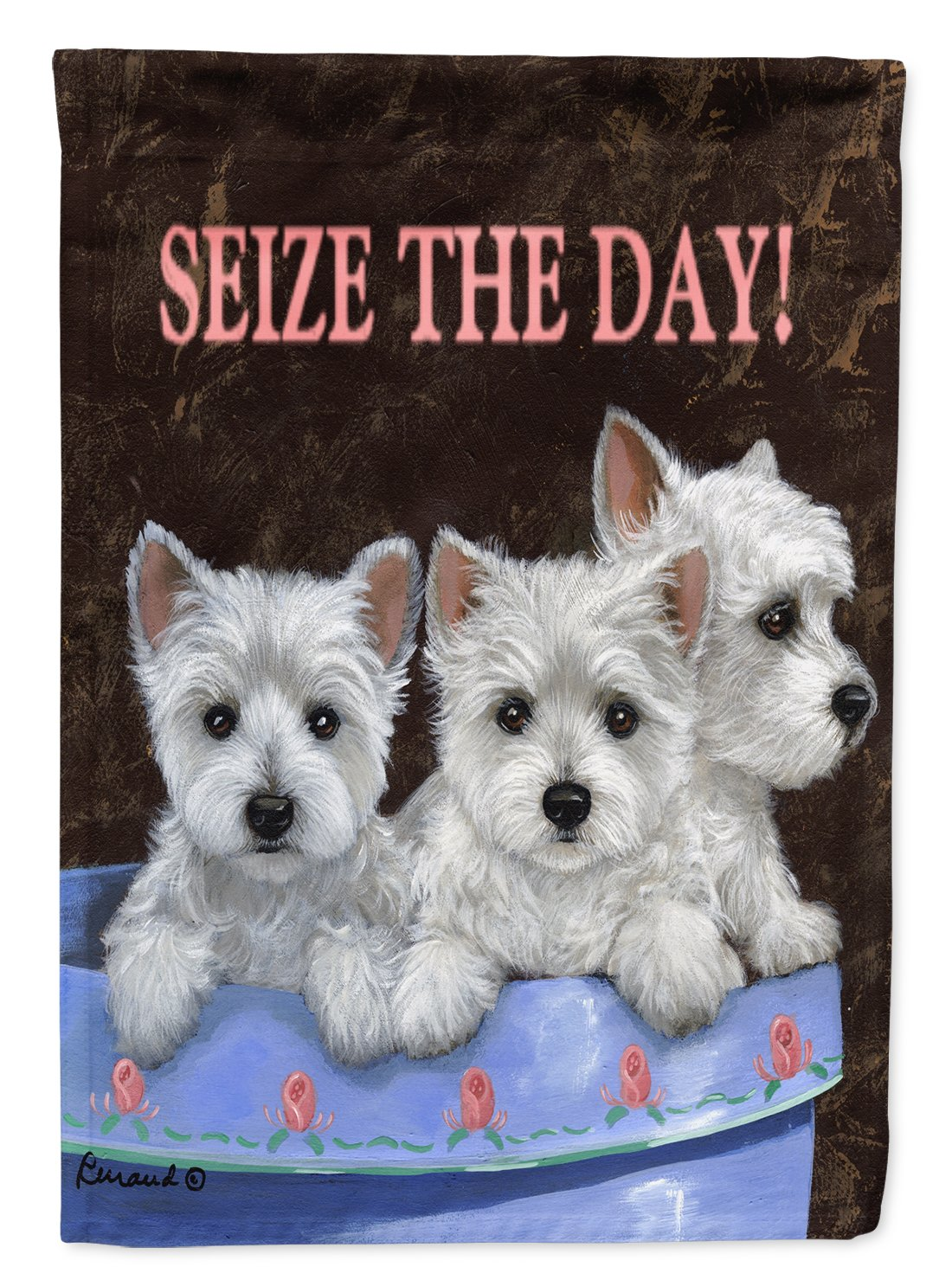 Buy this Westie Seize the Day Flag Garden Size PPP3232GF