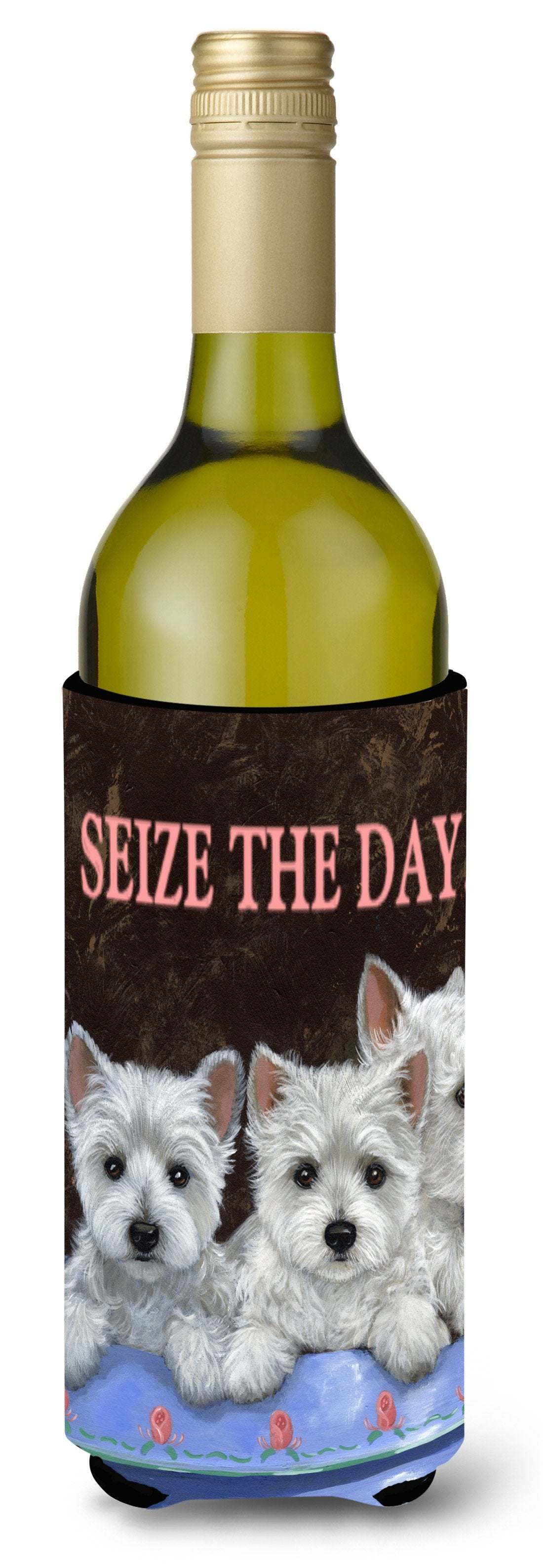 Westie Seize the Day Wine Bottle Hugger PPP3232LITERK by Caroline's Treasures