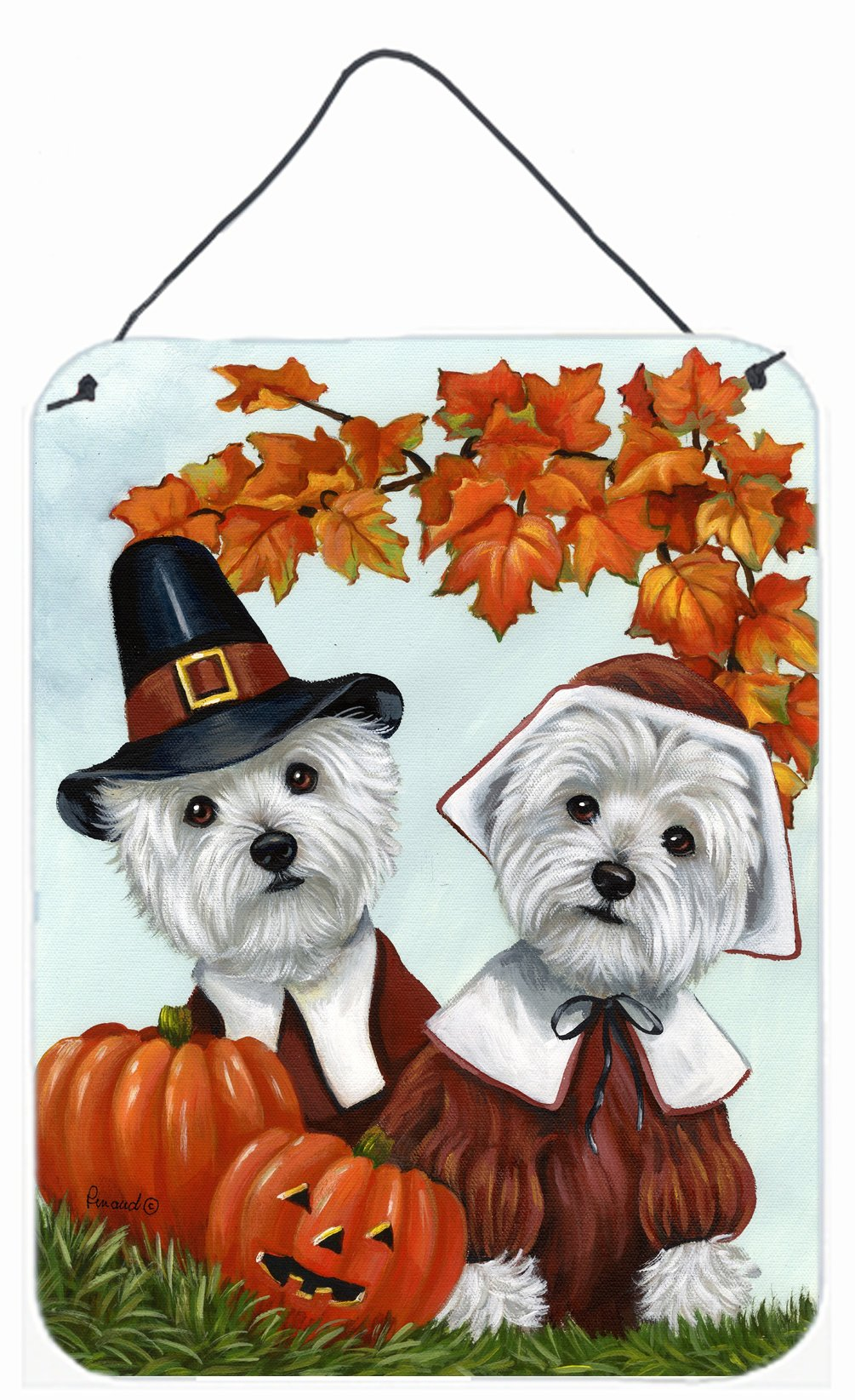 Buy this Westie Thanksgiving Pilgrims Wall or Door Hanging Prints PPP3235DS1216