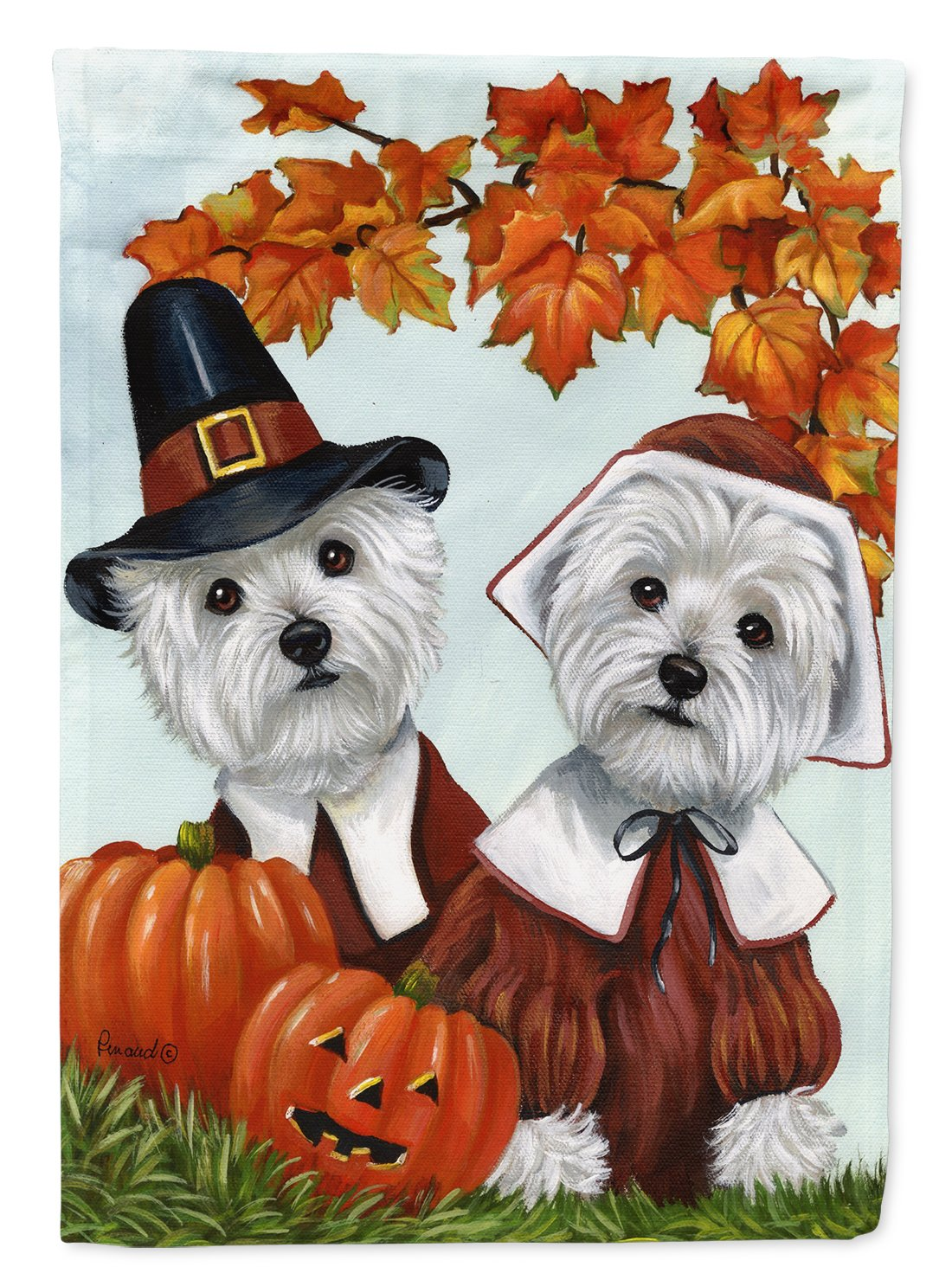 Buy this Westie Thanksgiving Pilgrims Flag Garden Size PPP3235GF