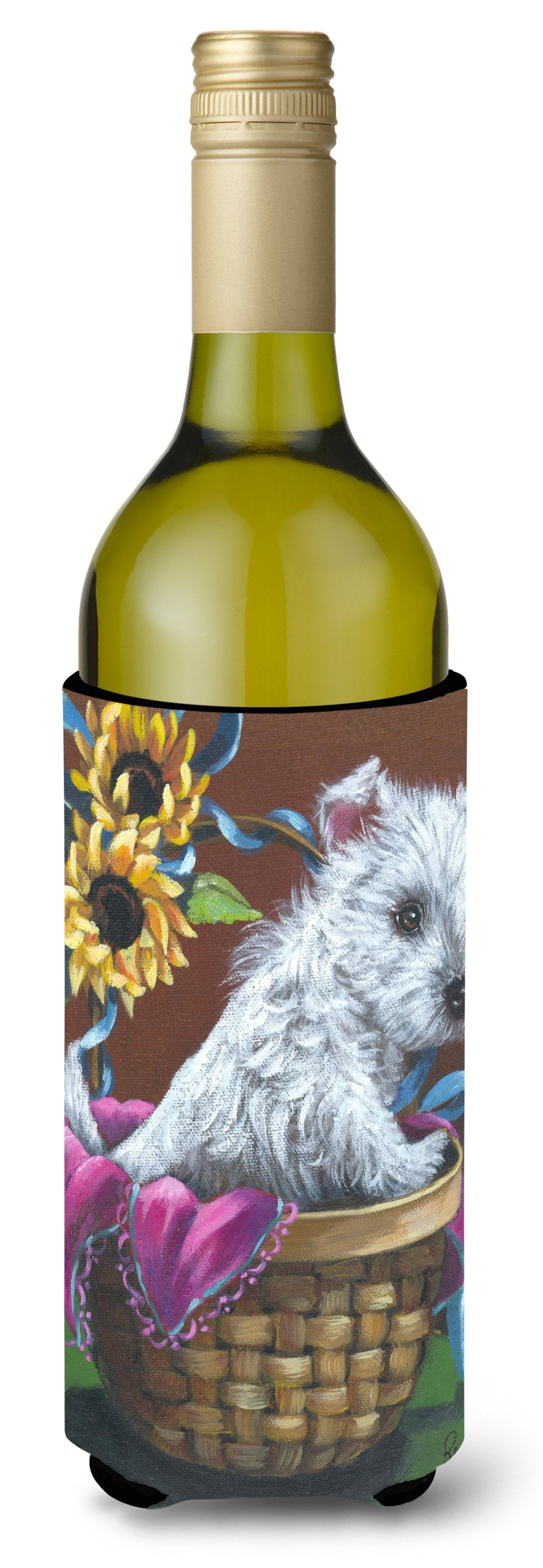 Westie Zoe and Sunflowers Wine Bottle Hugger PPP3236LITERK by Caroline's Treasures