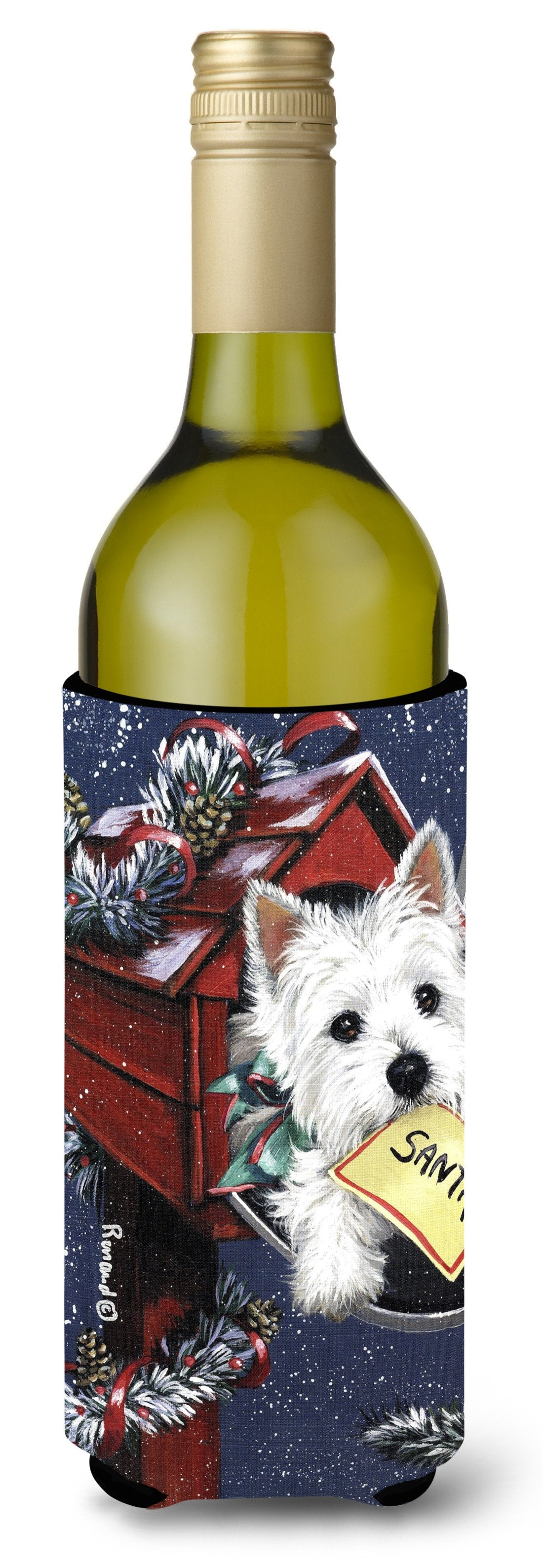 Westie Zoe's Christmas List Wine Bottle Hugger PPP3237LITERK by Caroline's Treasures