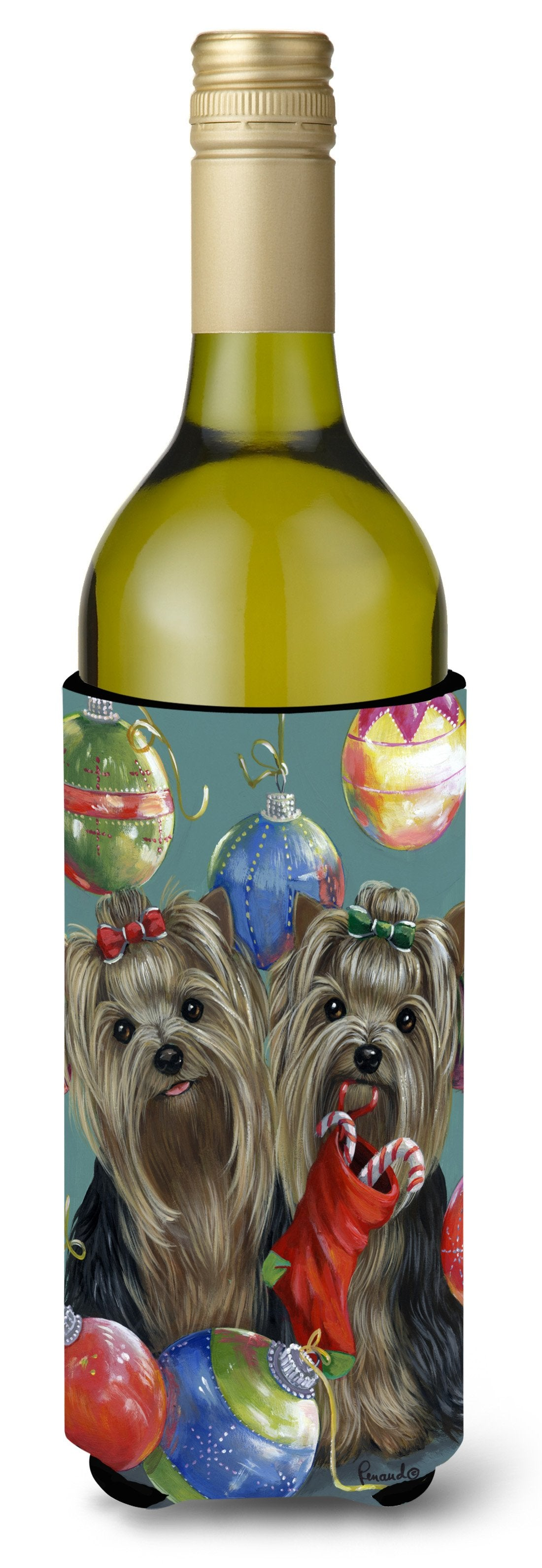Yorkie Christmas All that Glitters Wine Bottle Hugger PPP3239LITERK by Caroline's Treasures