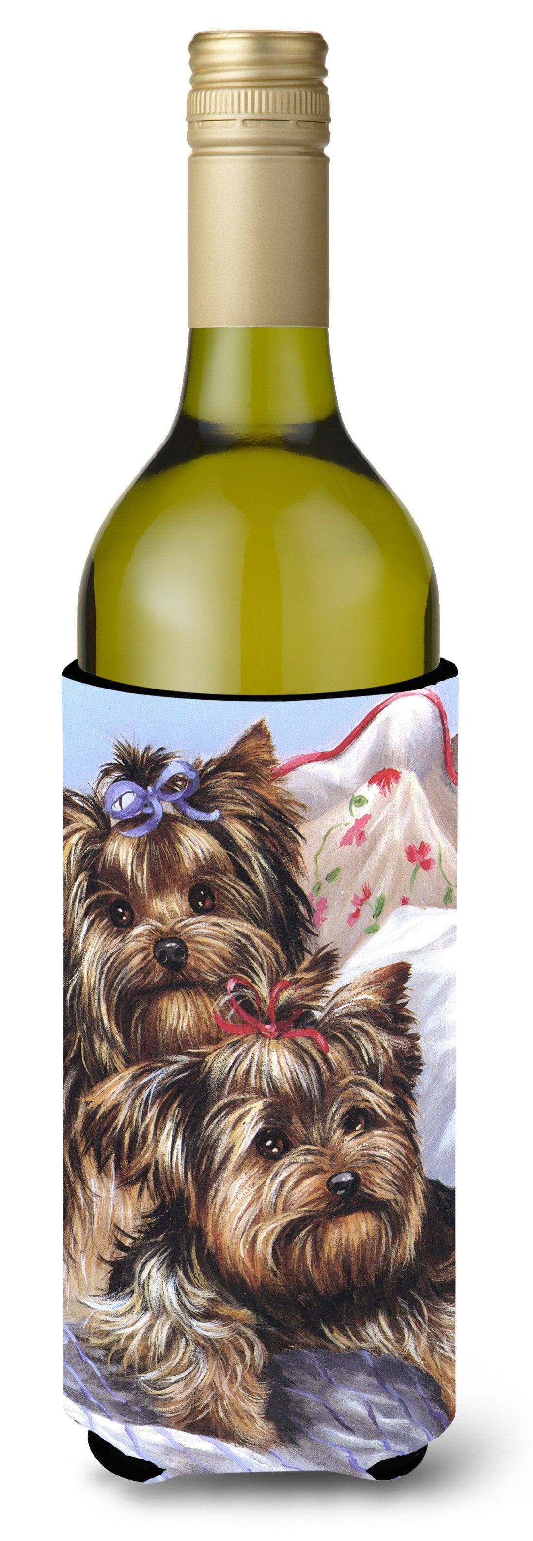 Yorkie Bed Bugs Wine Bottle Hugger PPP3240LITERK by Caroline's Treasures